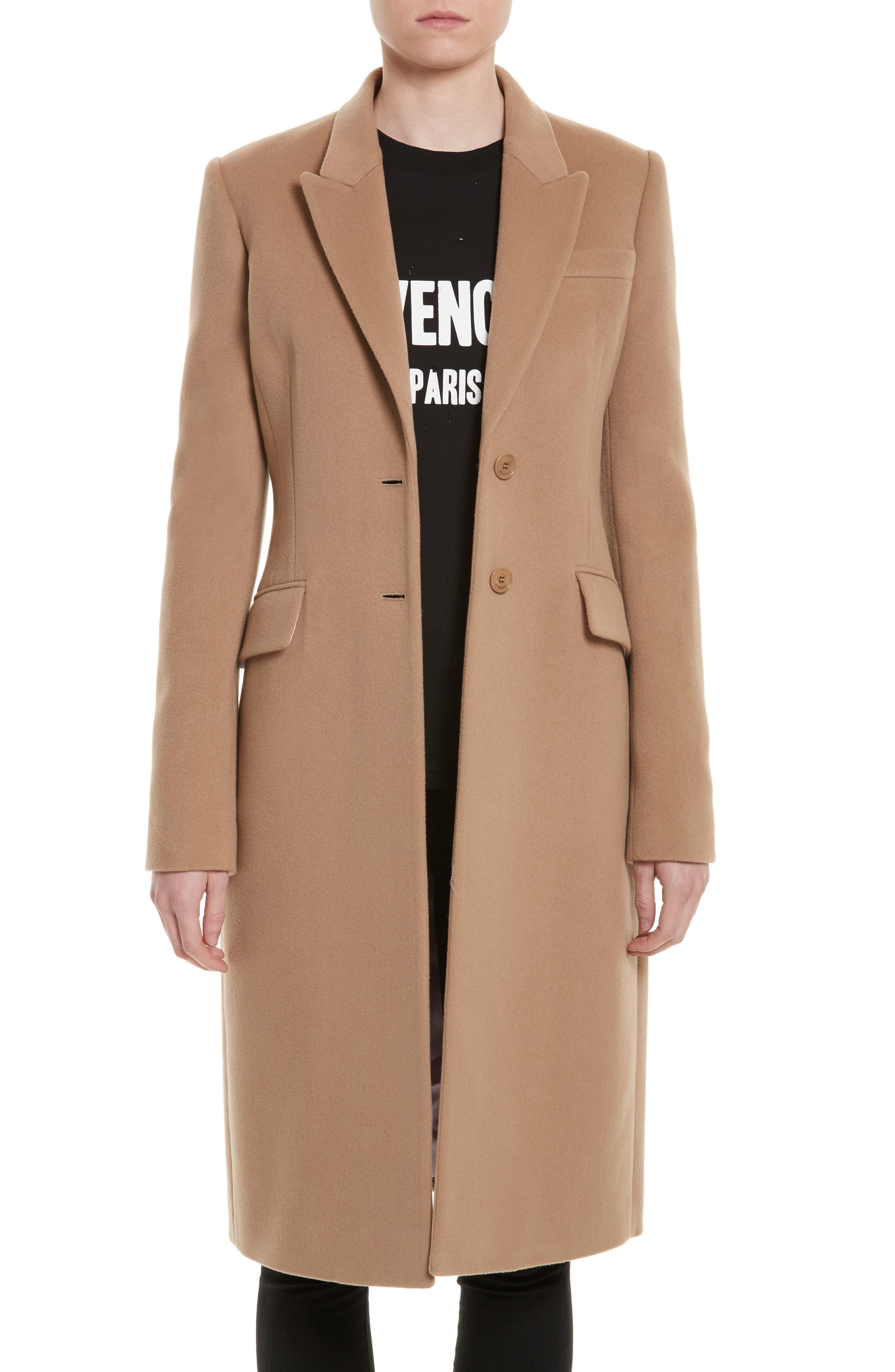 Wool & Cashmere Coat,                         Main,                         color, Camel