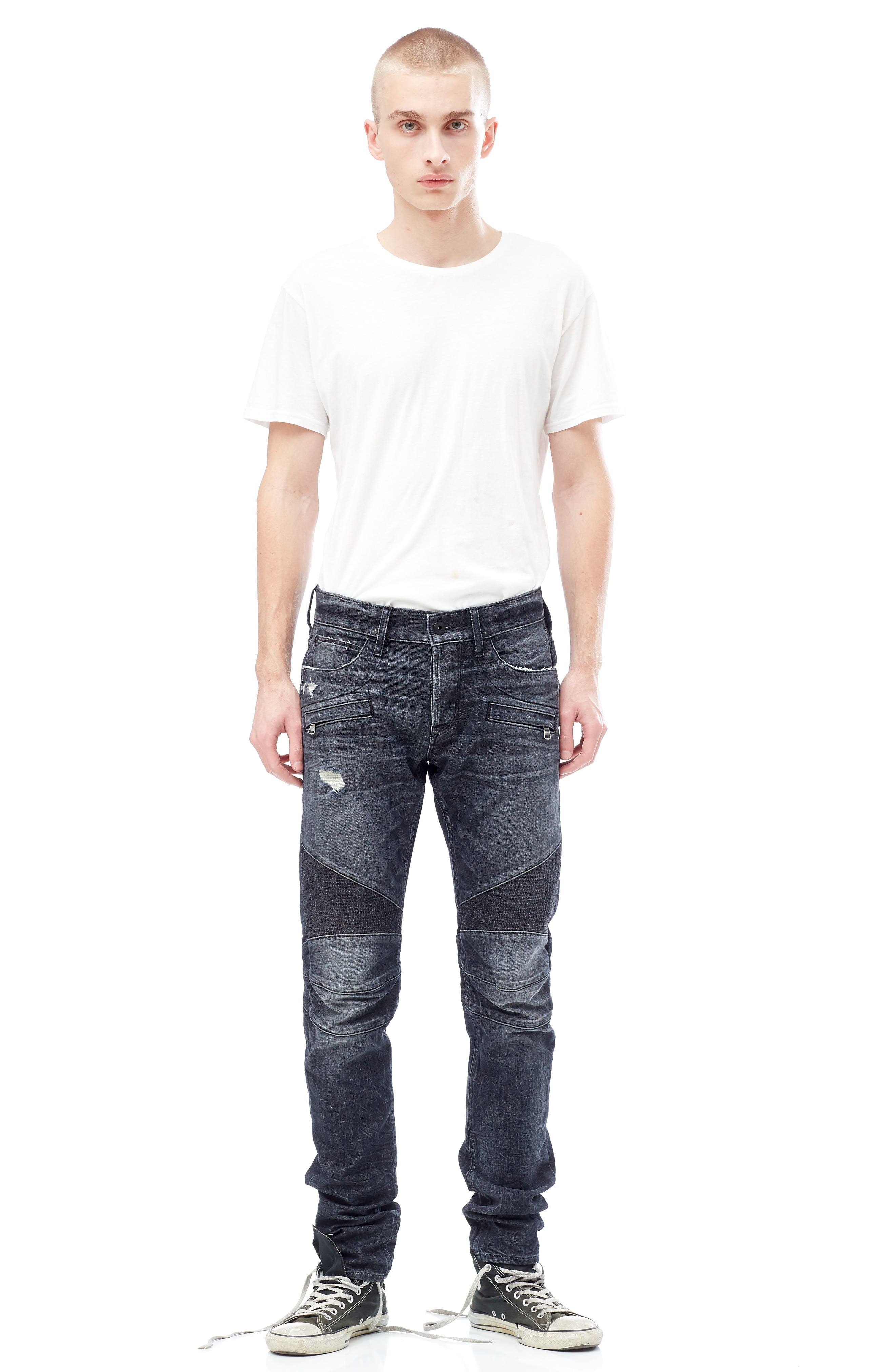 Alternate Image 7  - Hudson Jeans Blinder Biker Moto Skinny Fit Jeans (Damage)