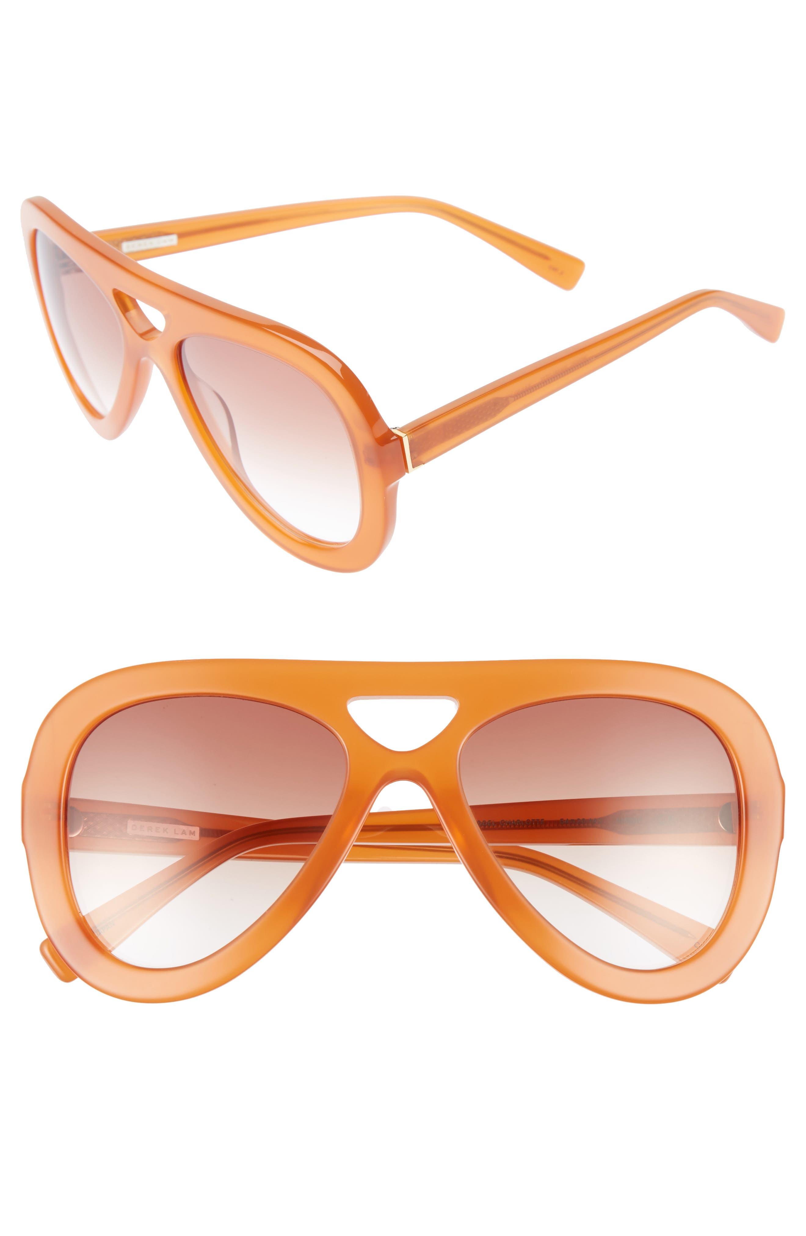 DEREK LAM 54mm Aviator Sunglasses