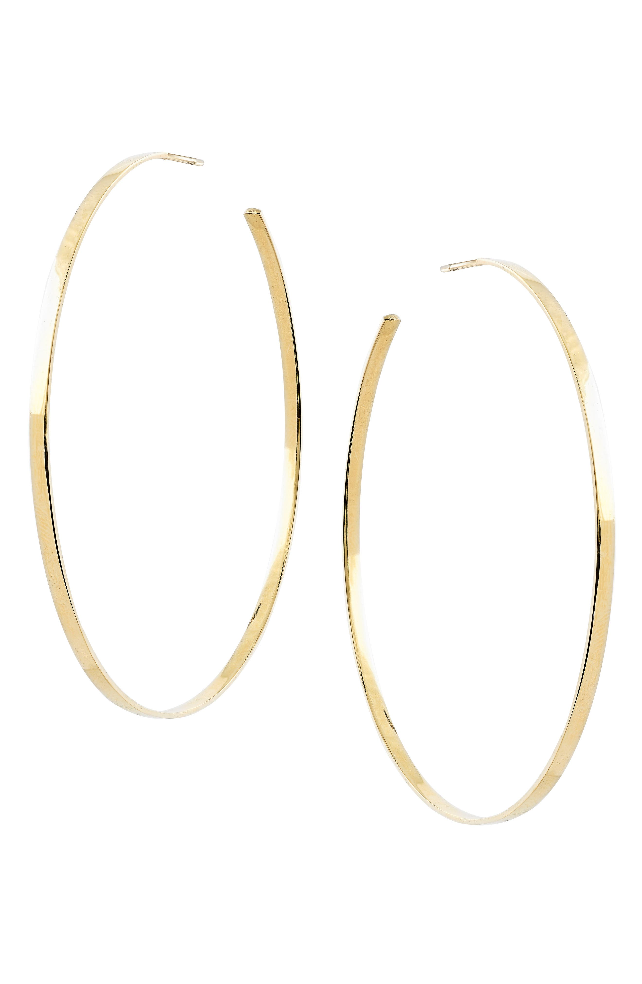 Sunrise Hoop Earrings,                             Main thumbnail 1, color,                             Yellow Gold