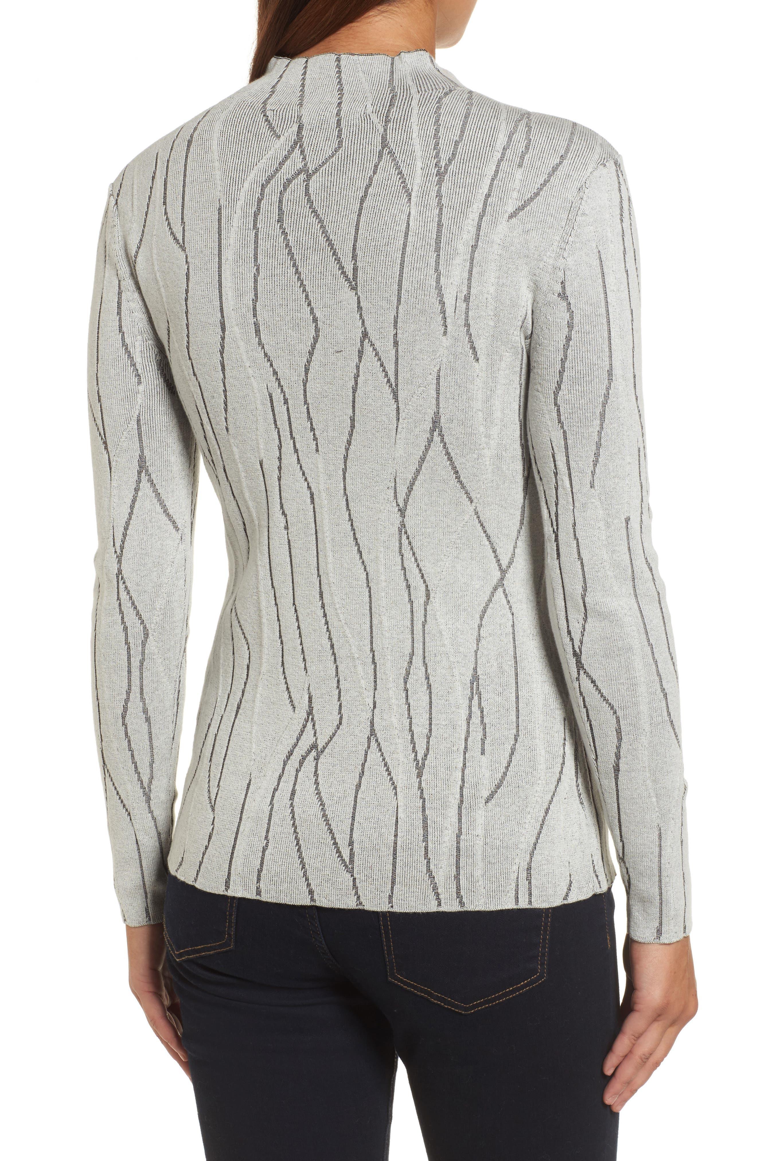 Artisanal Crackle Jacquard Sweater,                             Alternate thumbnail 2, color,                             Chalk
