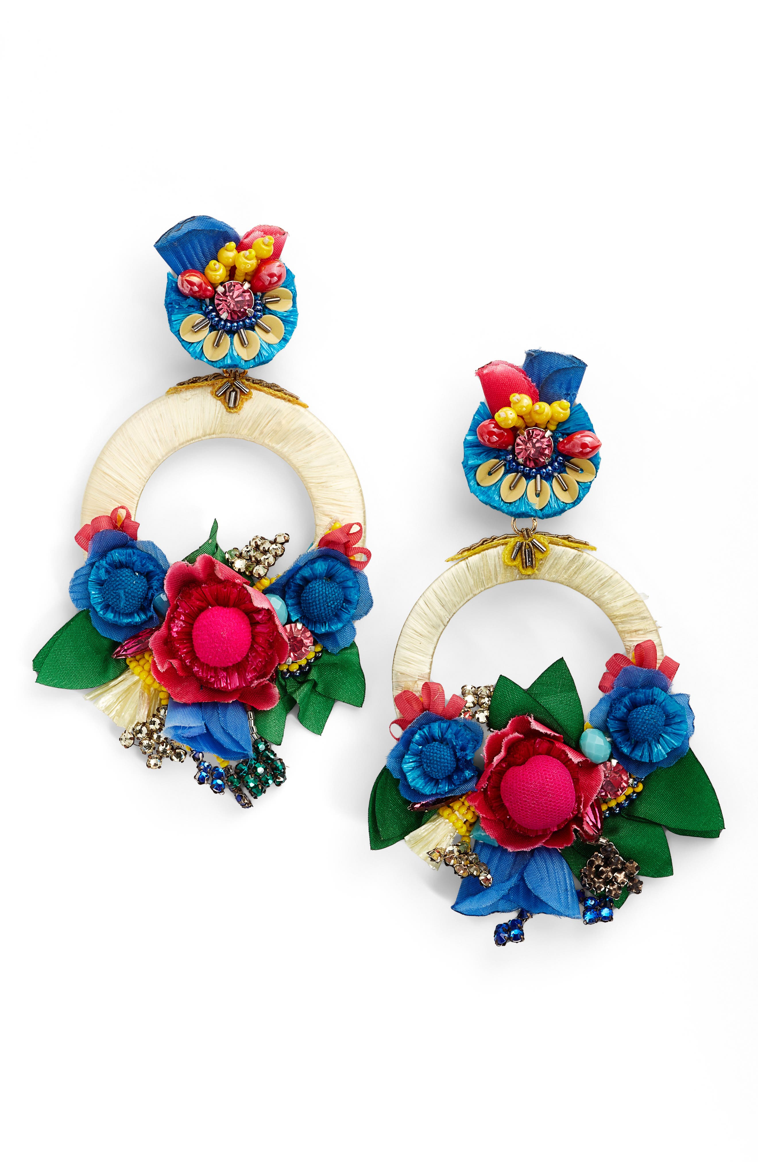 Eden Earrings,                             Main thumbnail 1, color,                             Red / Blue / Gold