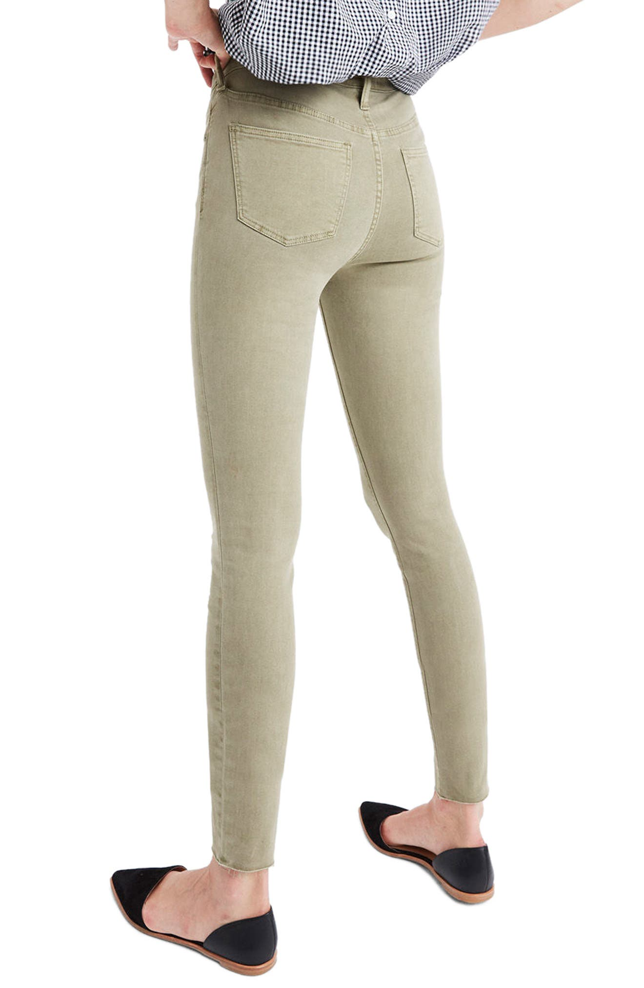 Alternate Image 2  - Madewell 9-Inch High-Rise Skinny Jeans: Raw-Hem Garment-Dyed Edition