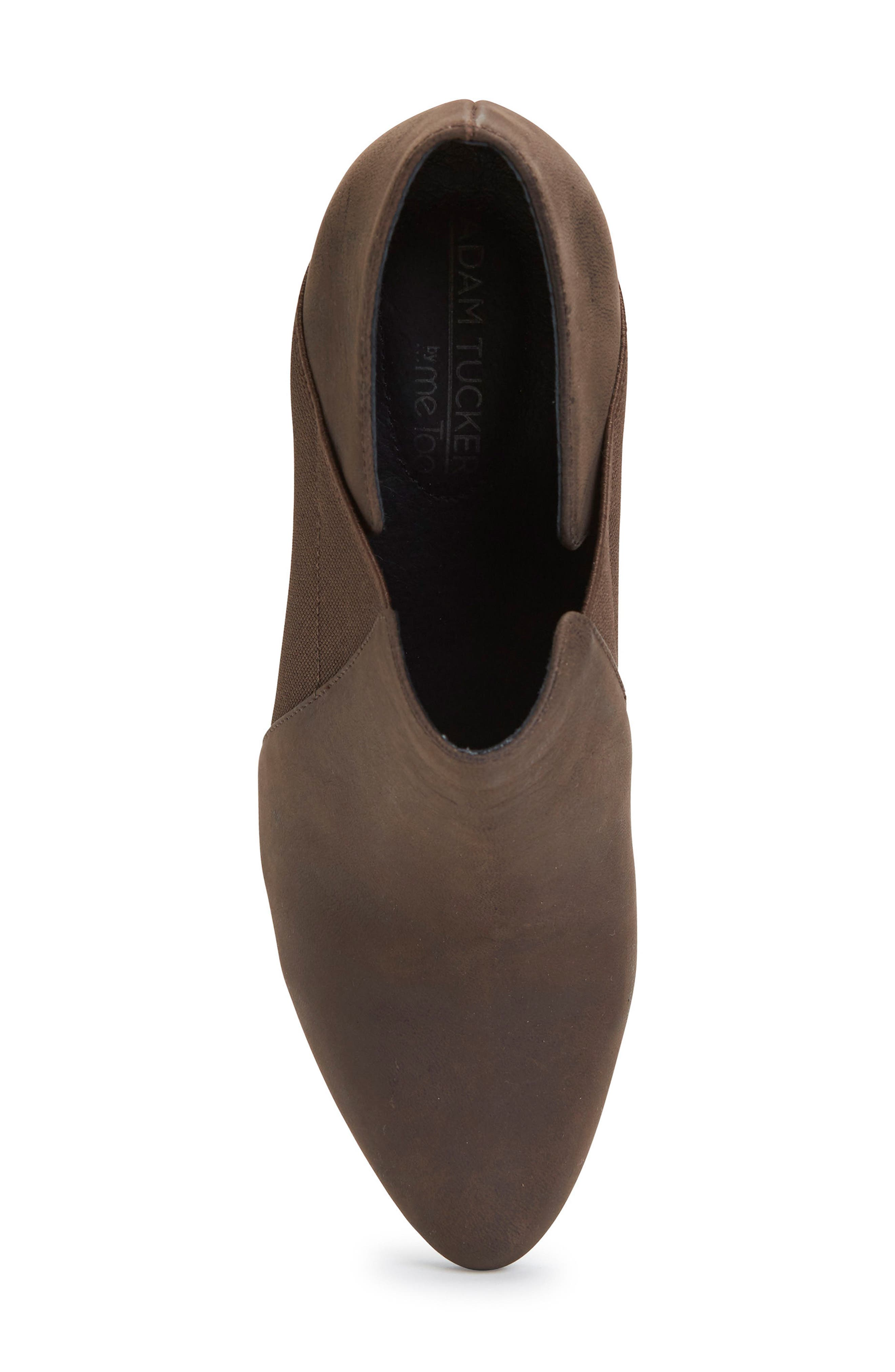 Zayna Bootie,                             Alternate thumbnail 5, color,                             Cuban Brown Leather