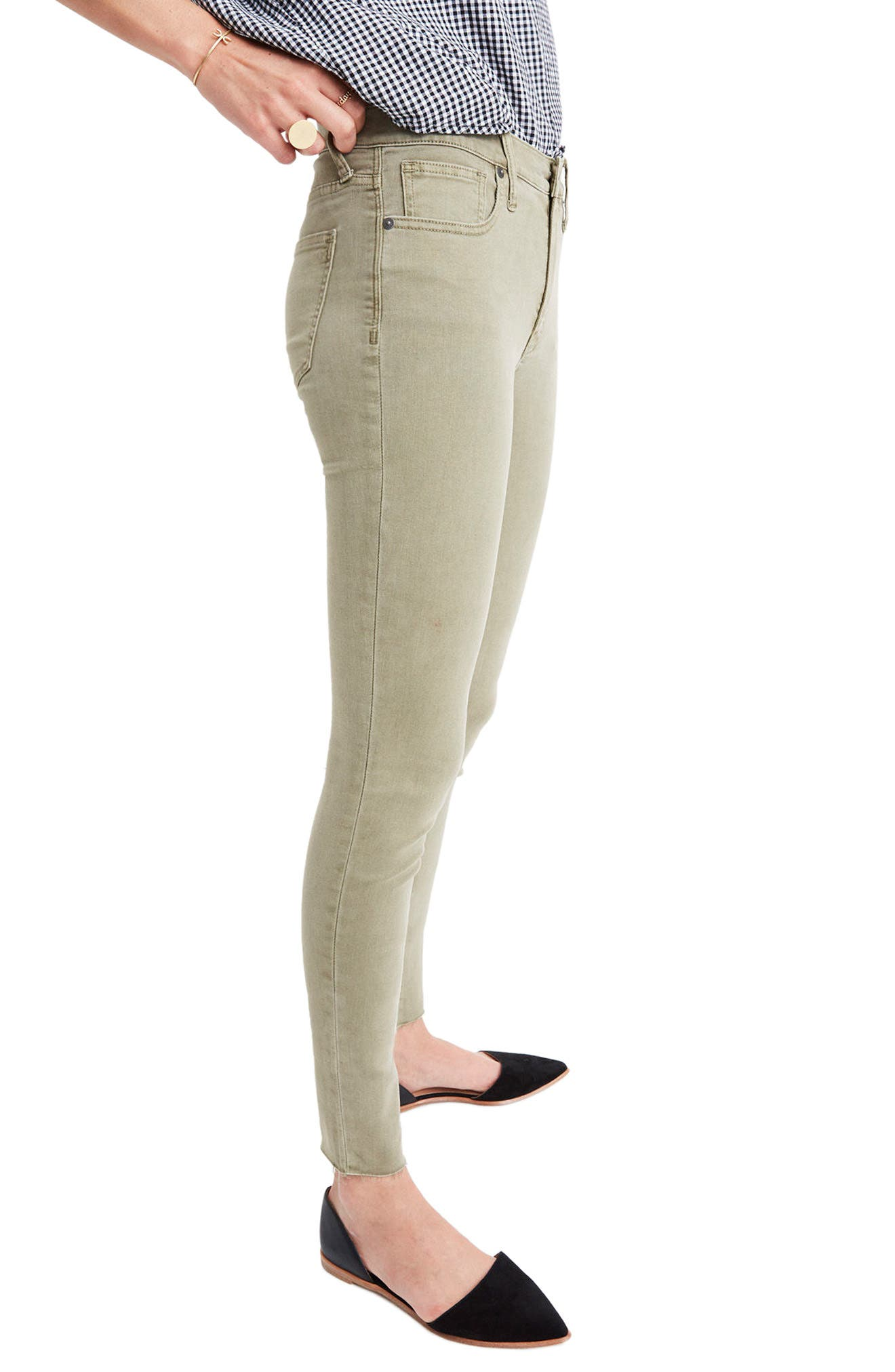 Alternate Image 3  - Madewell 9-Inch High-Rise Skinny Jeans: Raw-Hem Garment-Dyed Edition