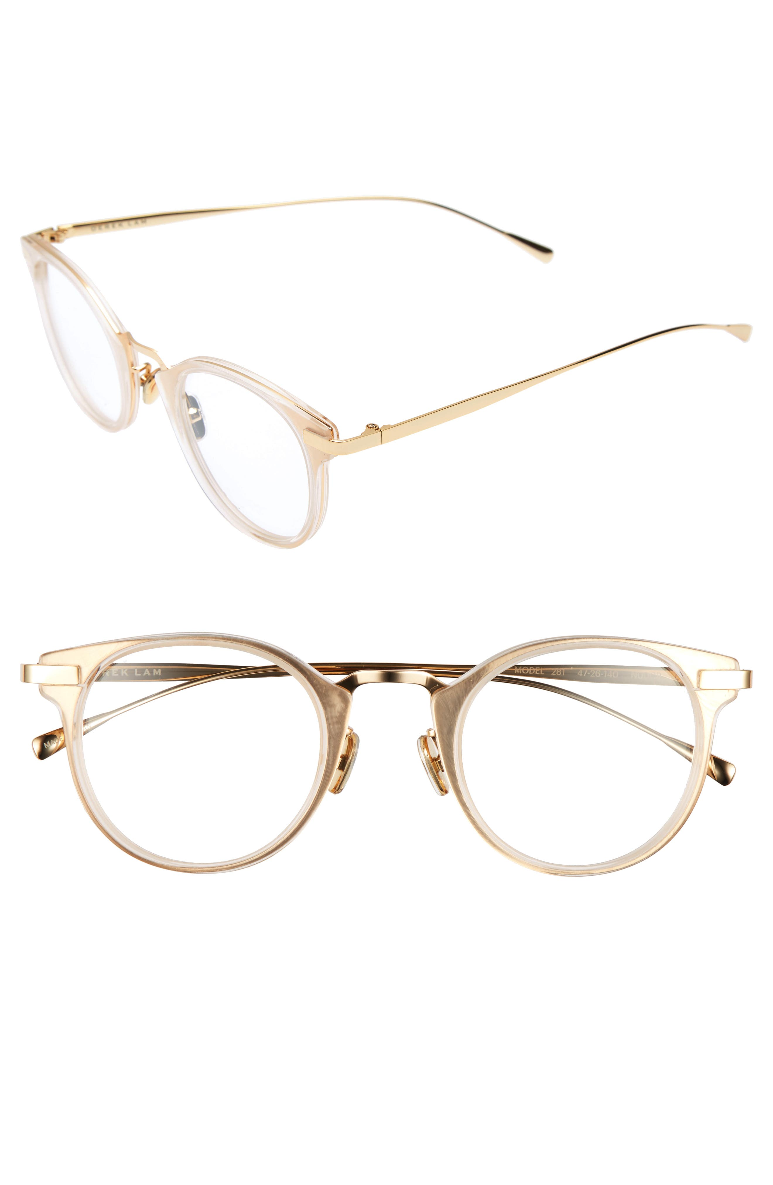 47mm Optical Glasses,                         Main,                         color, Nude Crystal
