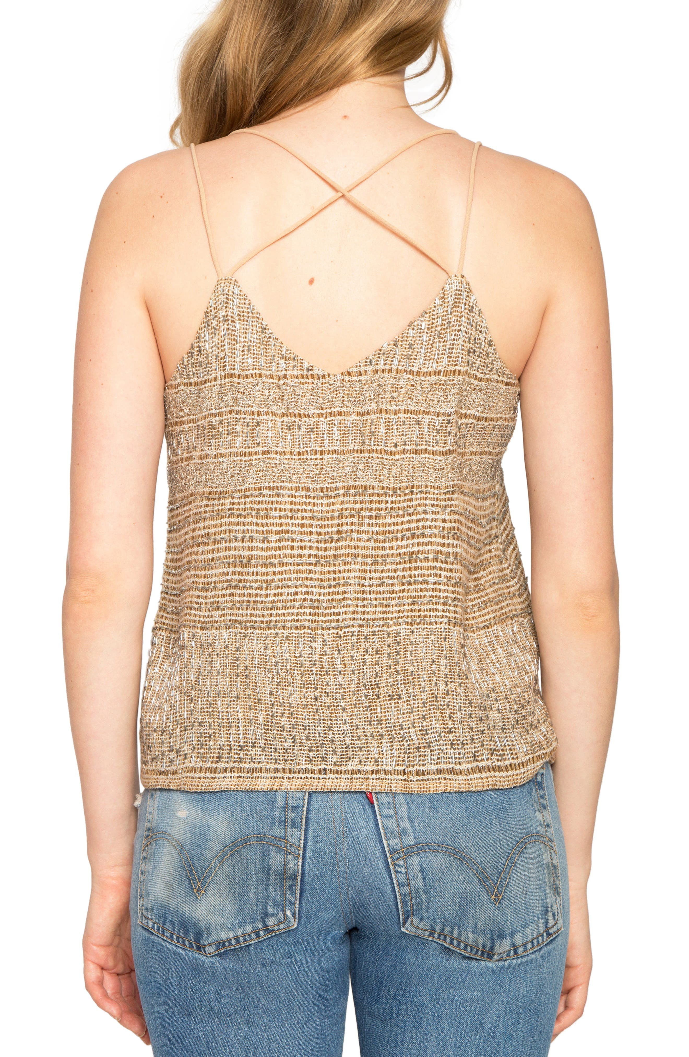 Strappy Camisole,                             Alternate thumbnail 2, color,                             Taupe