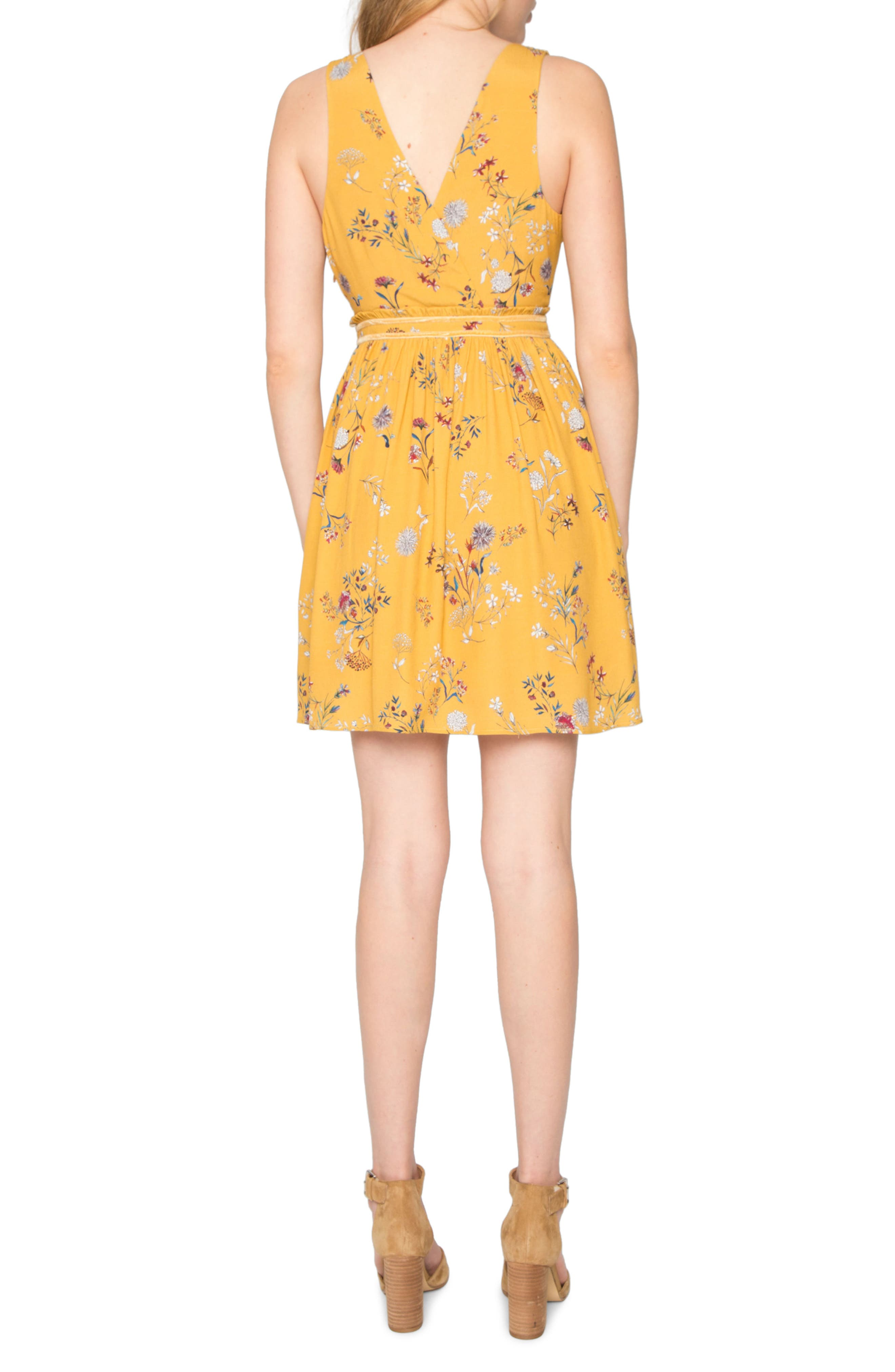 Alternate Image 2  - Willow & Clay Floral Print Fit & Flare Dress