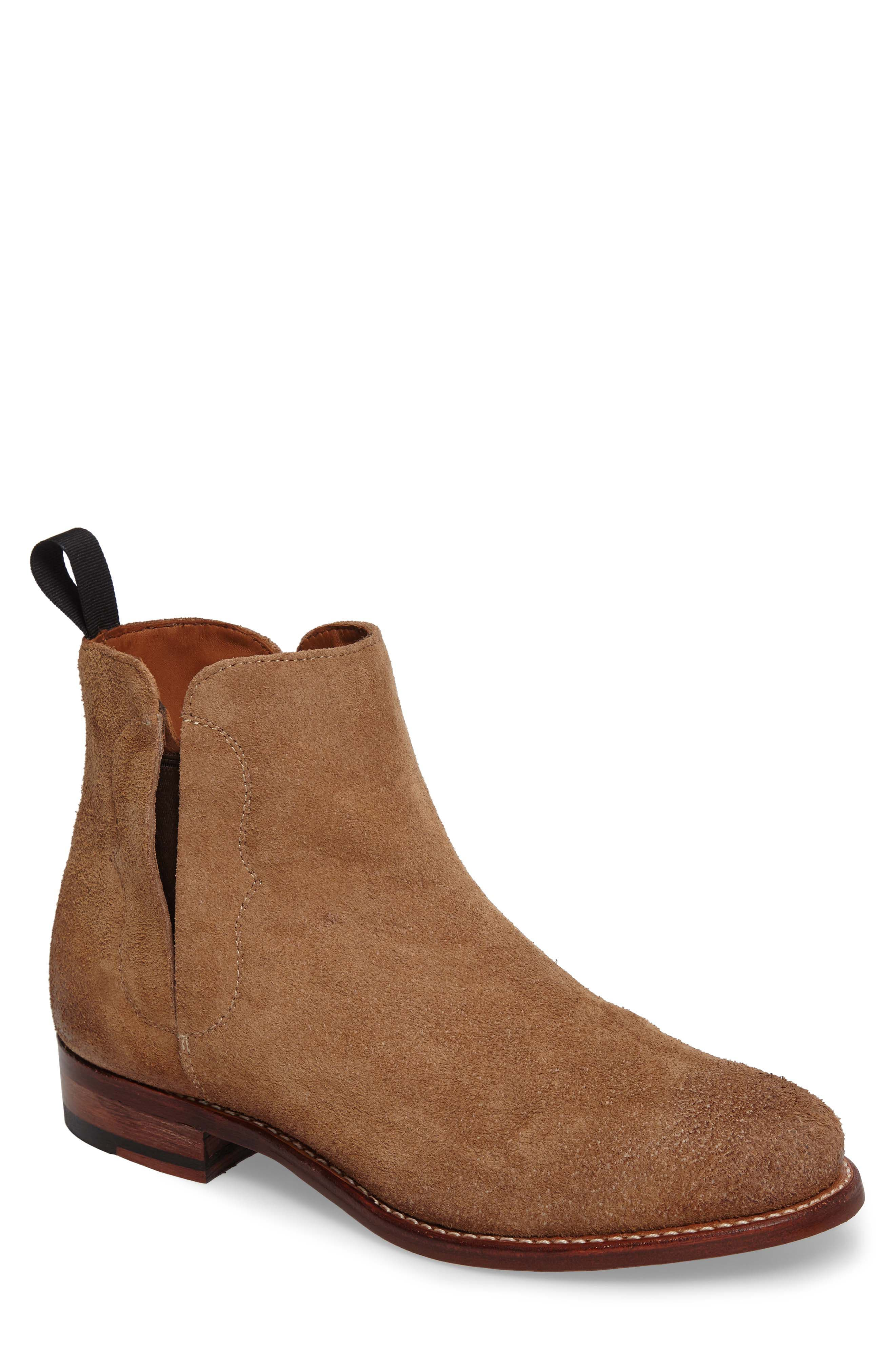 Ariat Maxwell Chelsea Boot,                             Main thumbnail 1, color,                             Amaretto Suede