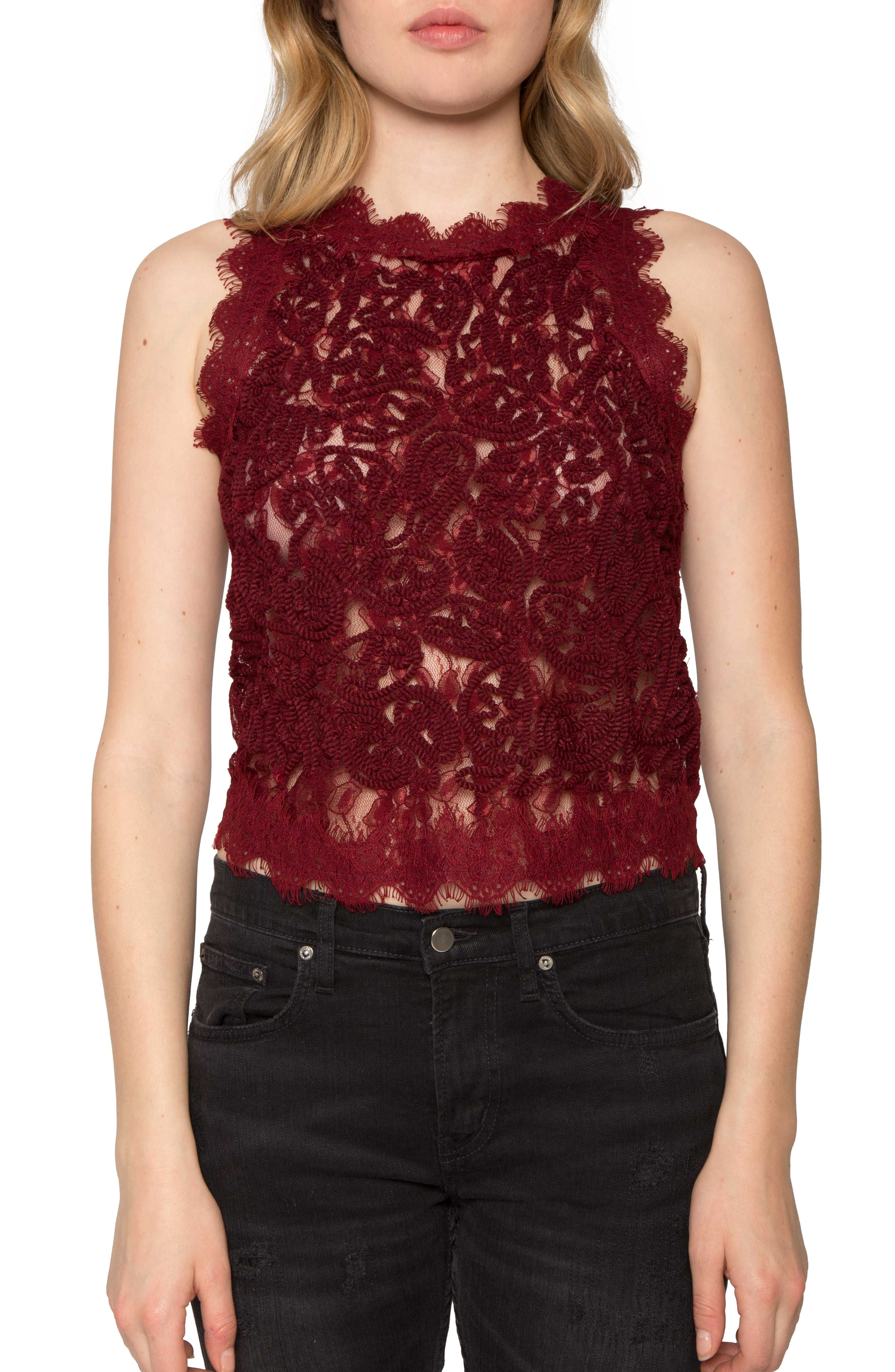 Main Image - Willow & Clay Textured Lace Tank