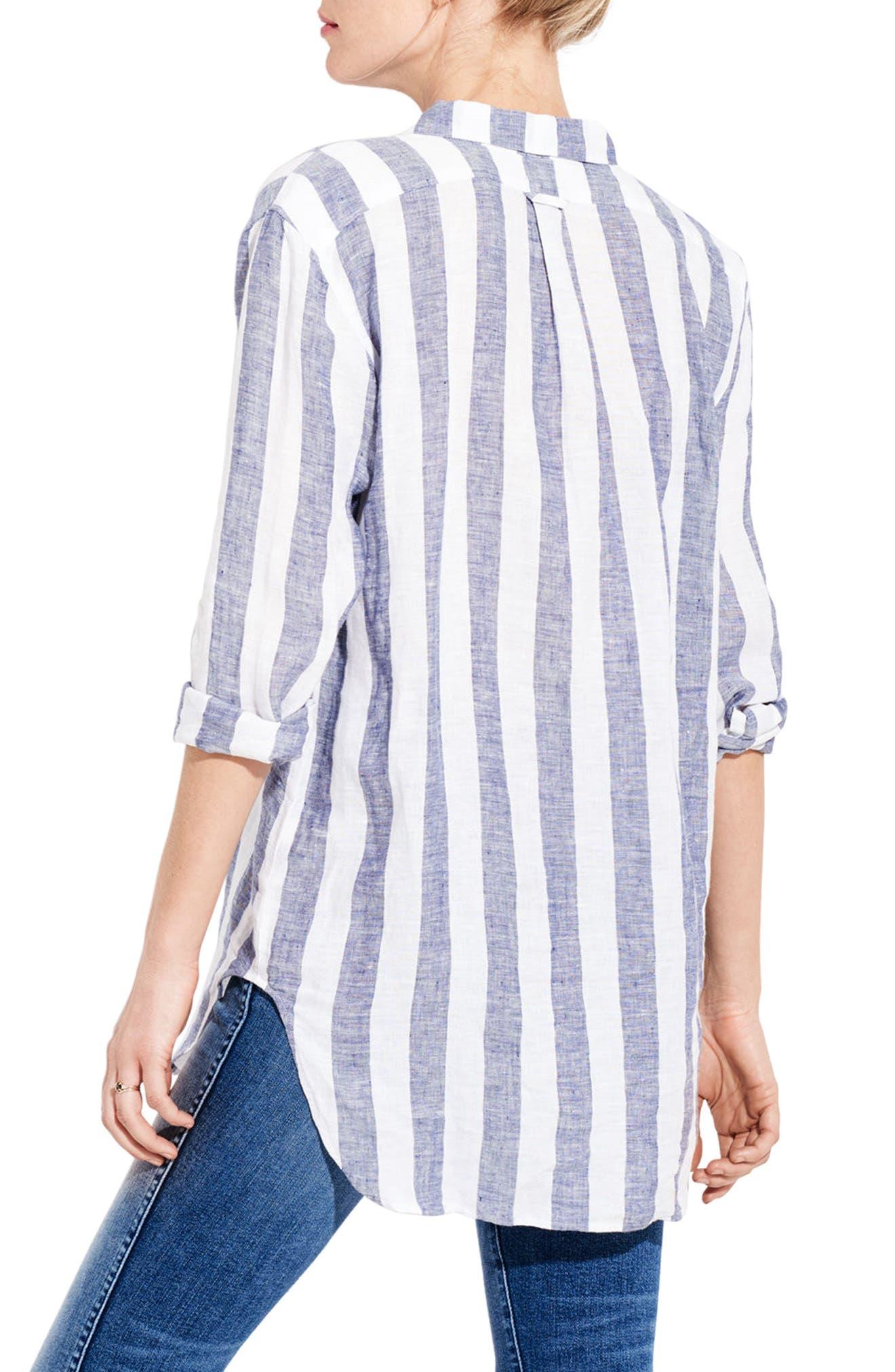 The Easy Linen Shirt,                             Alternate thumbnail 4, color,                             Bold Stripe
