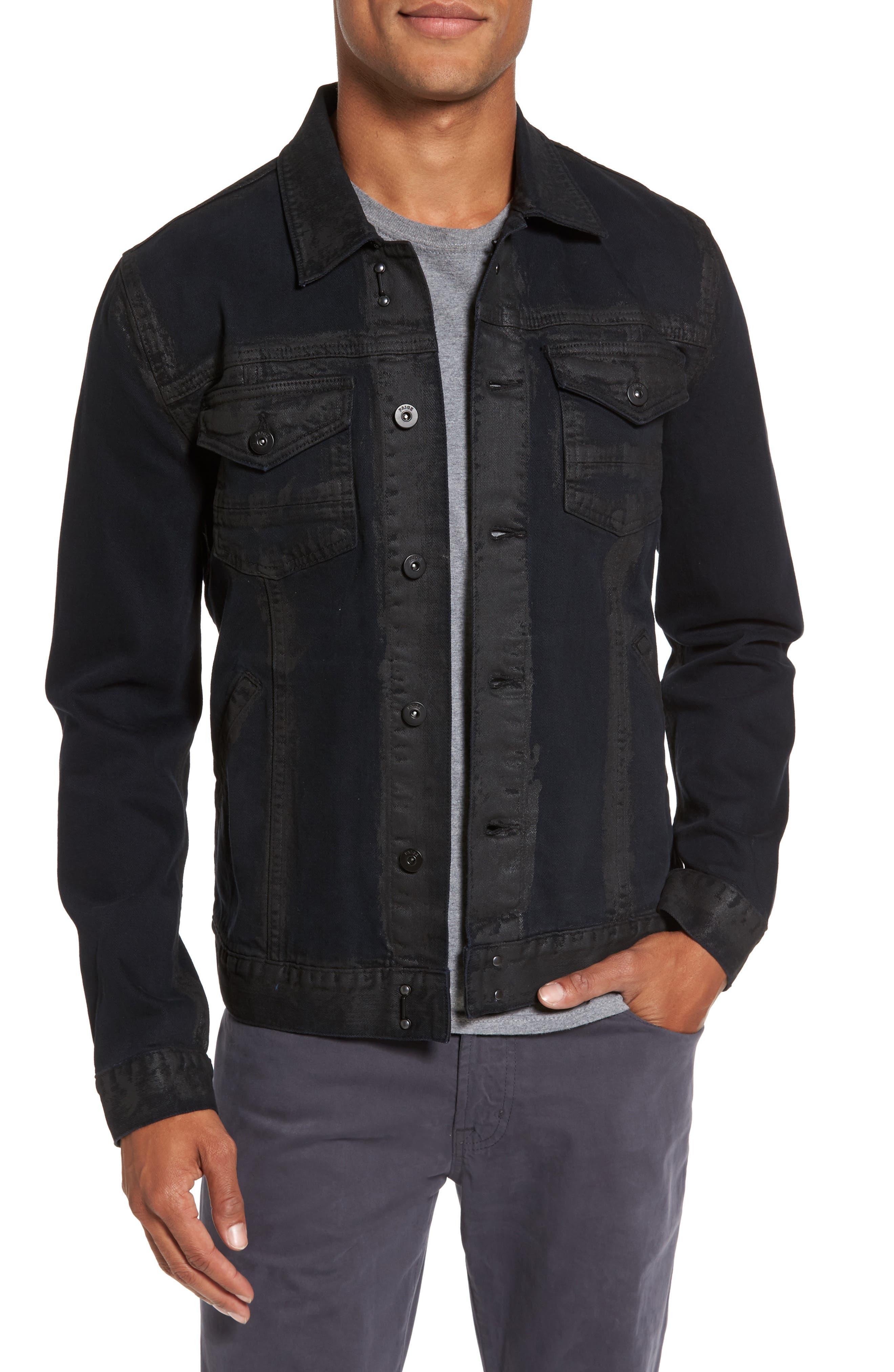 Scout Denim Jacket,                         Main,                         color, Black Gold