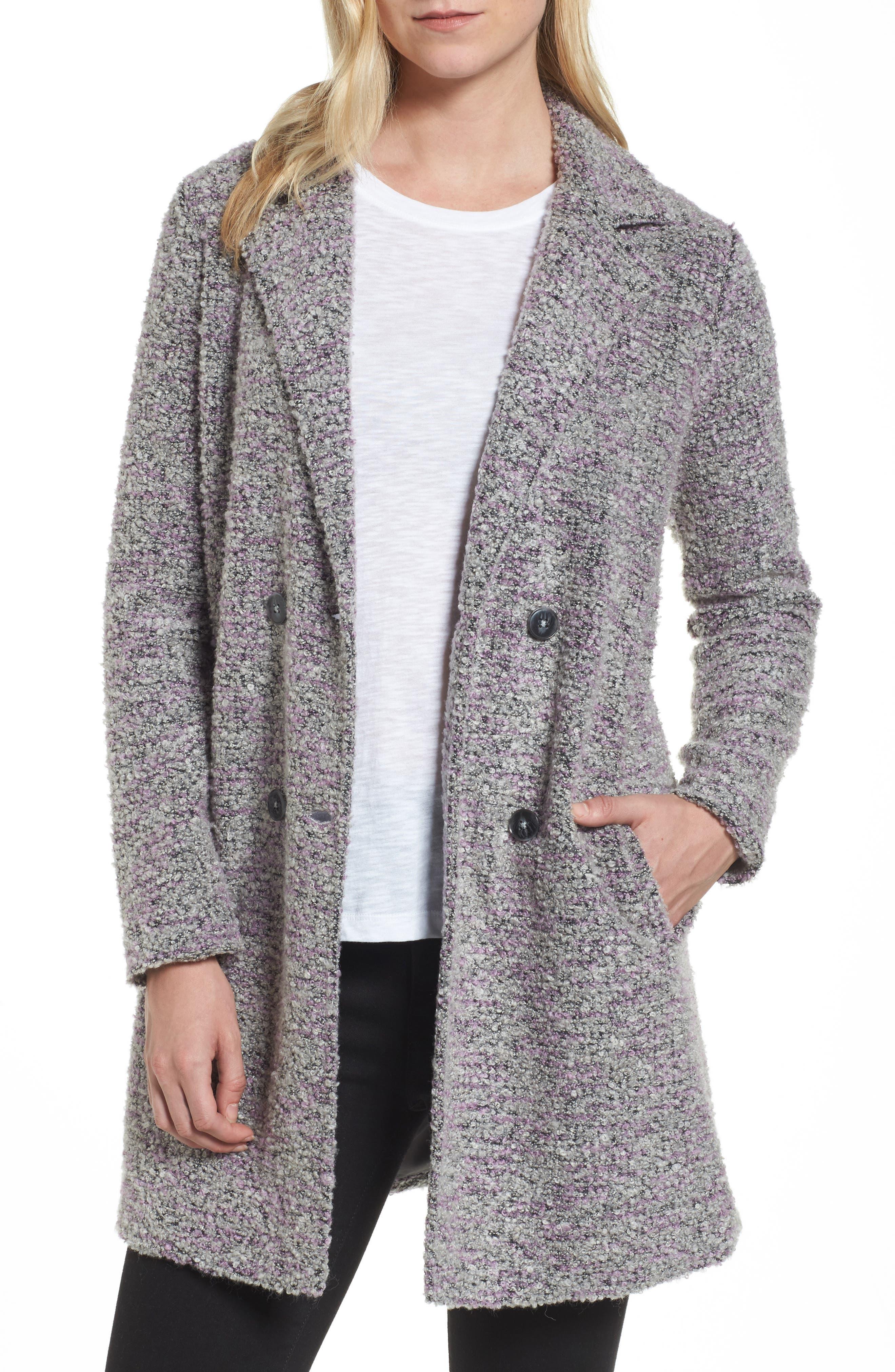 Halogen® Long Bouclé Jacket (Regular & Petite)