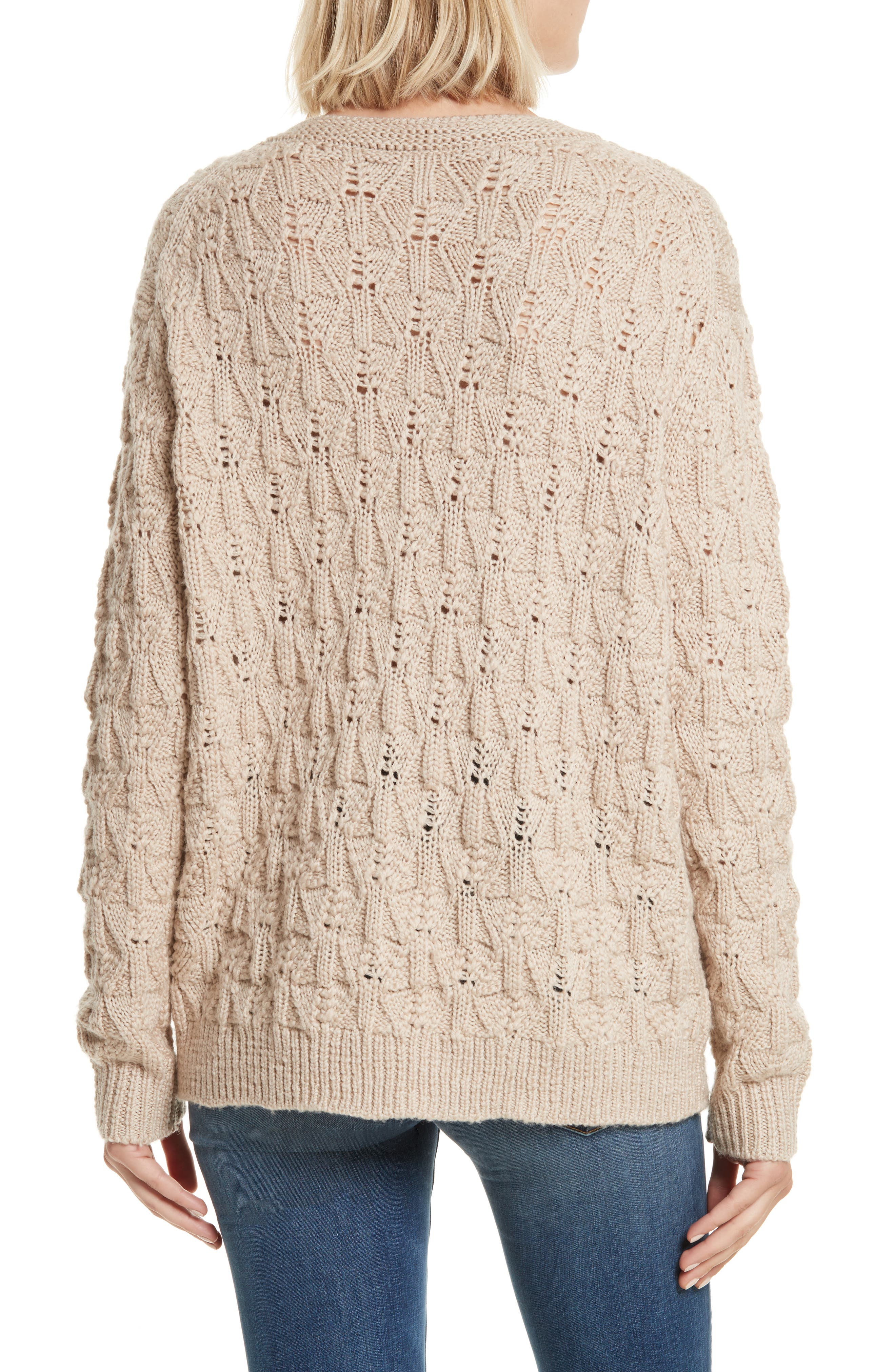 Alternate Image 2  - Rebecca Taylor V-Neck Merino Wool Pullover