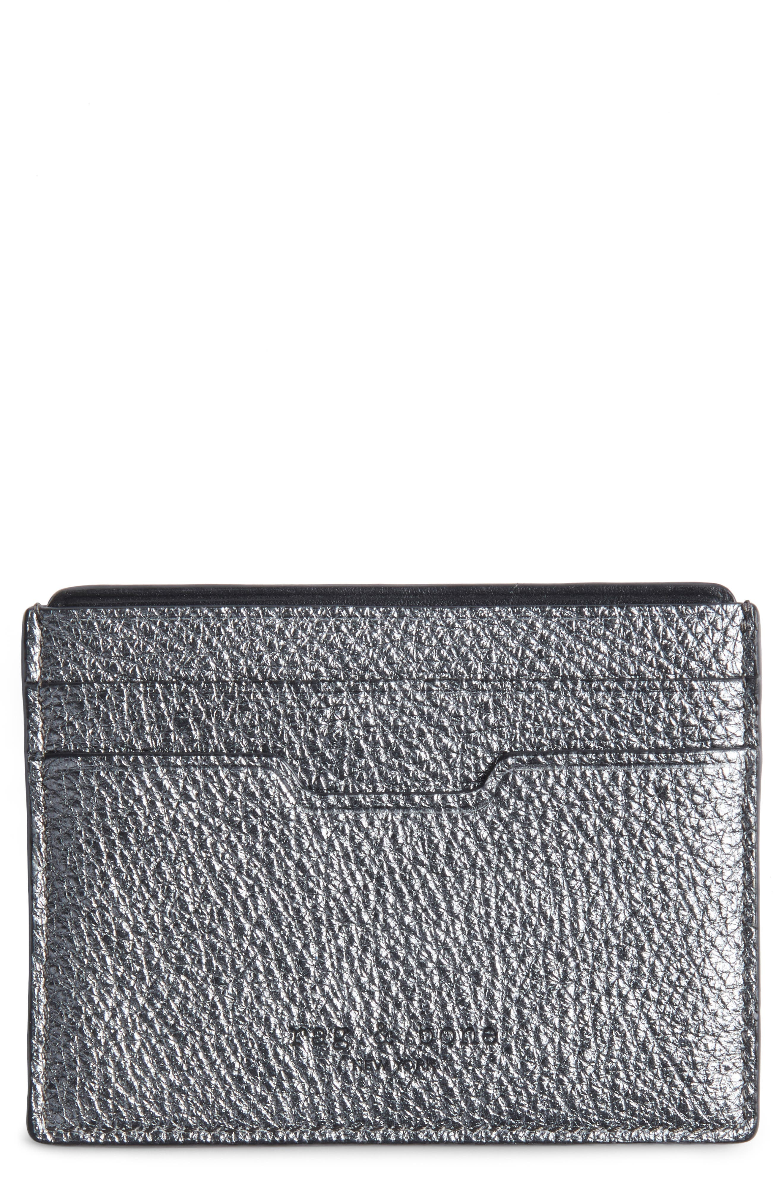 rag & bone Textured Buffalo Leather Card Case