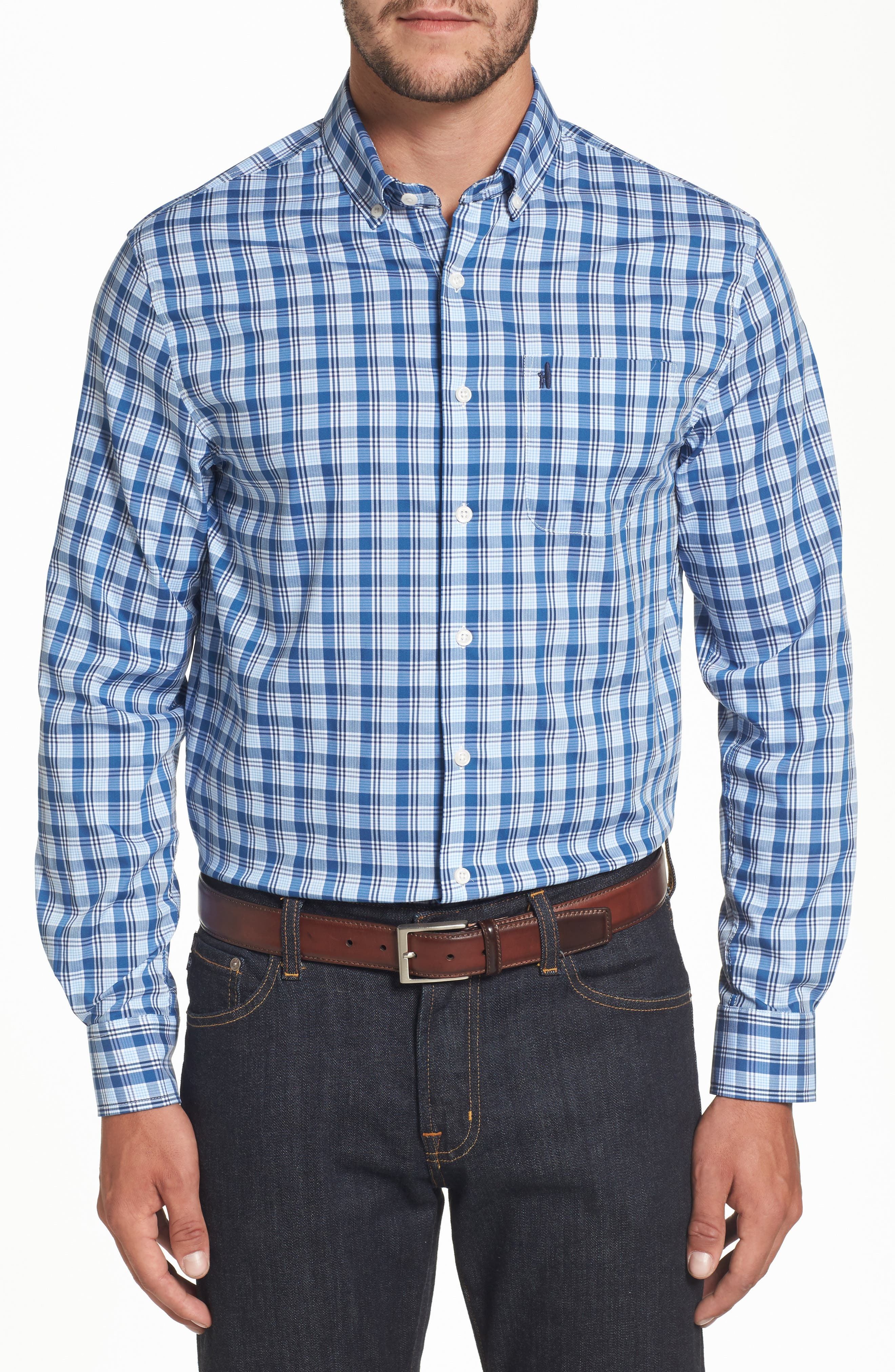 Main Image - johnnie-O Heathland Classic Fit Check Sport Shirt