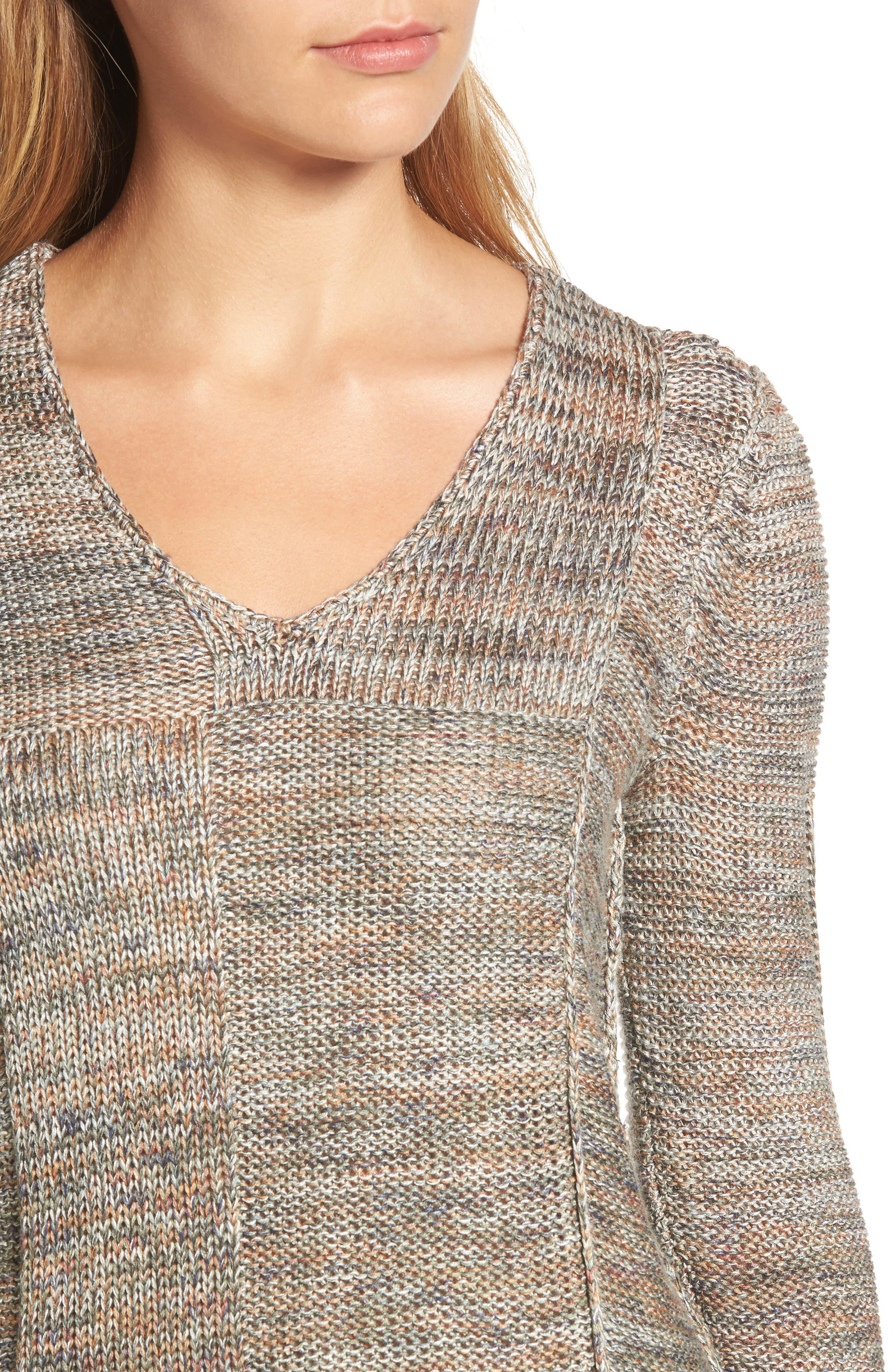 Textured Ombré Sweater,                             Alternate thumbnail 4, color,                             Multi