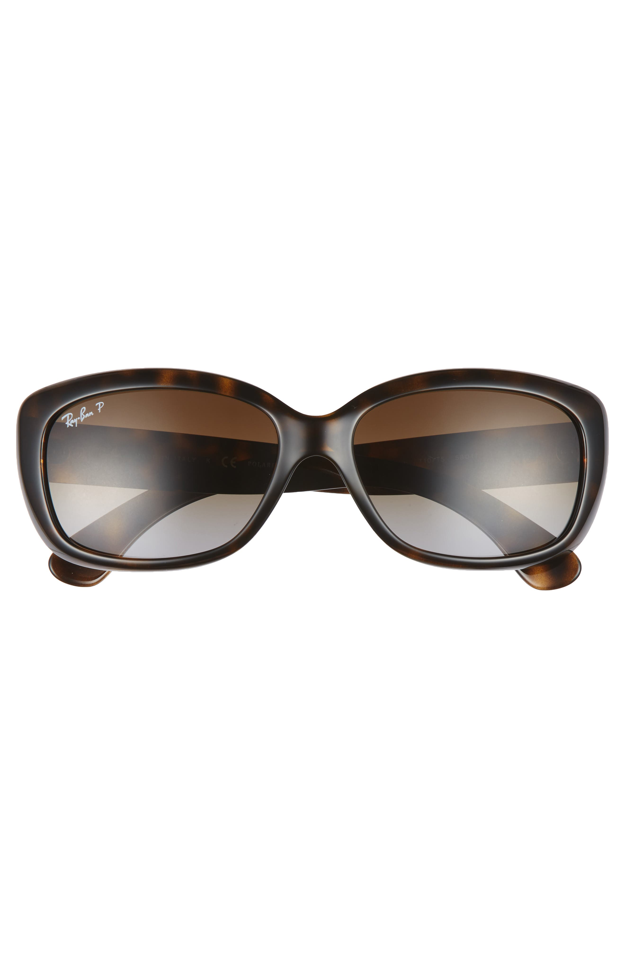 58mm Polarized Sunglasses,                             Alternate thumbnail 3, color,                             Havana