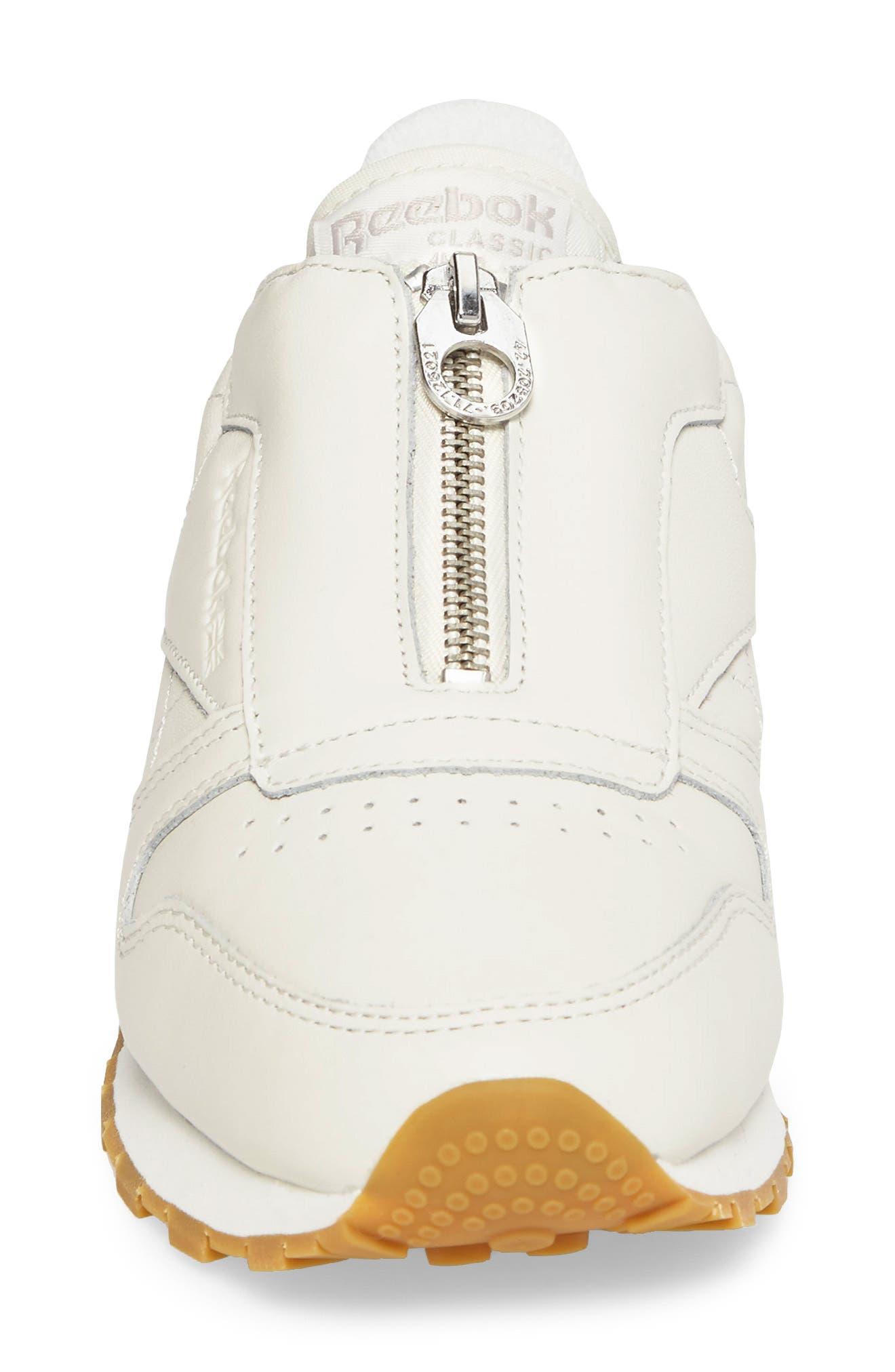 Alternate Image 4  - Reebok Classic Leather Zip Sneaker (Women)
