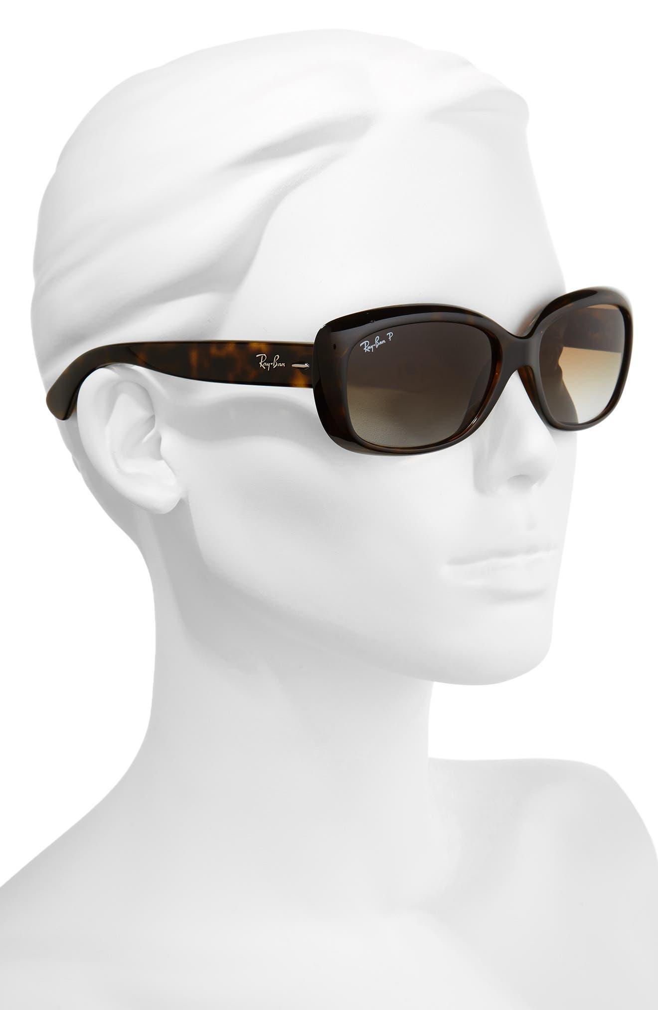 58mm Polarized Sunglasses,                             Alternate thumbnail 2, color,                             Havana