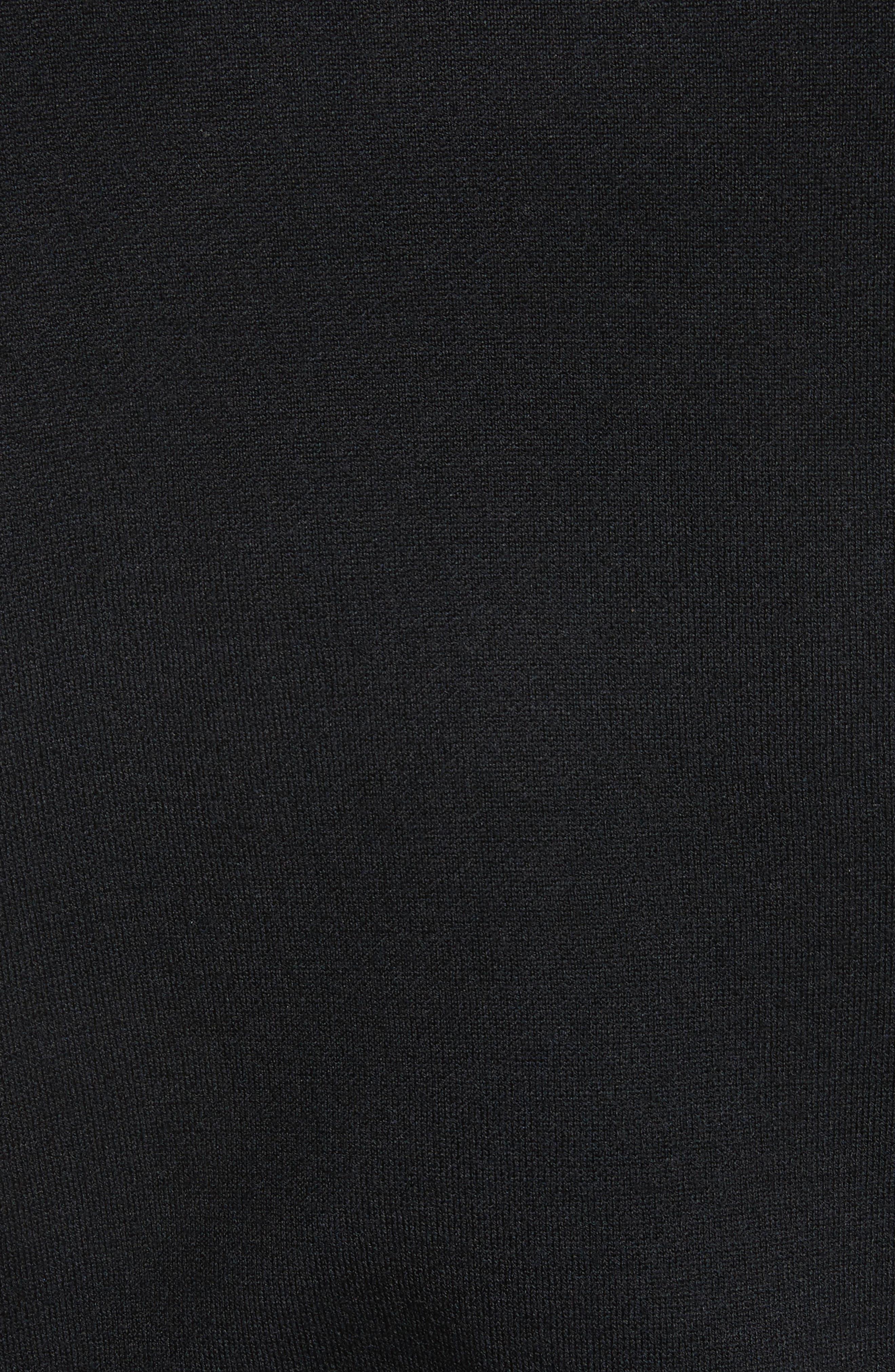 AJ Crewneck Sweater,                             Alternate thumbnail 5, color,                             Black