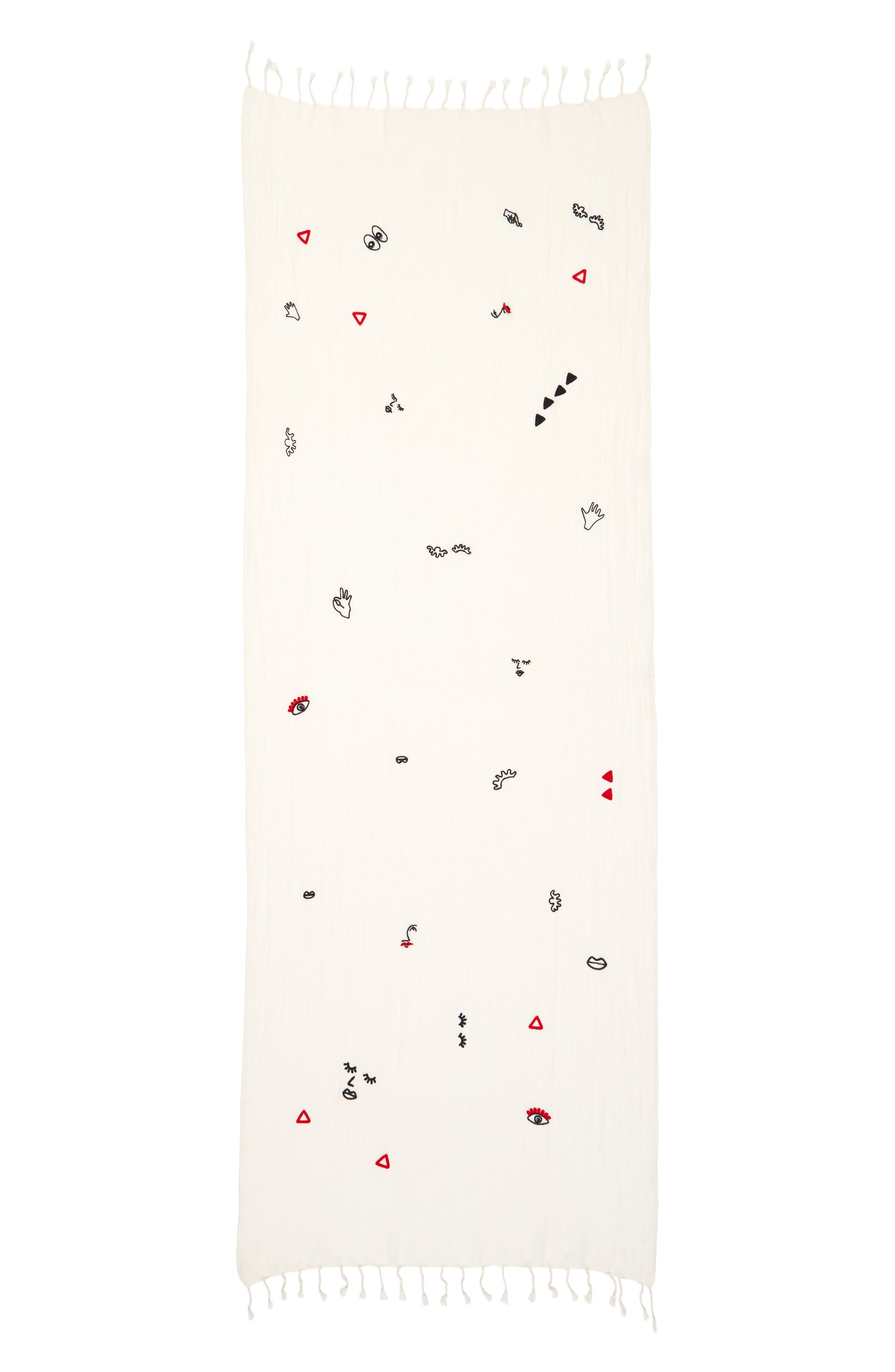 Alternate Image 2  - Madewell Embroidered Making Faces Scarf