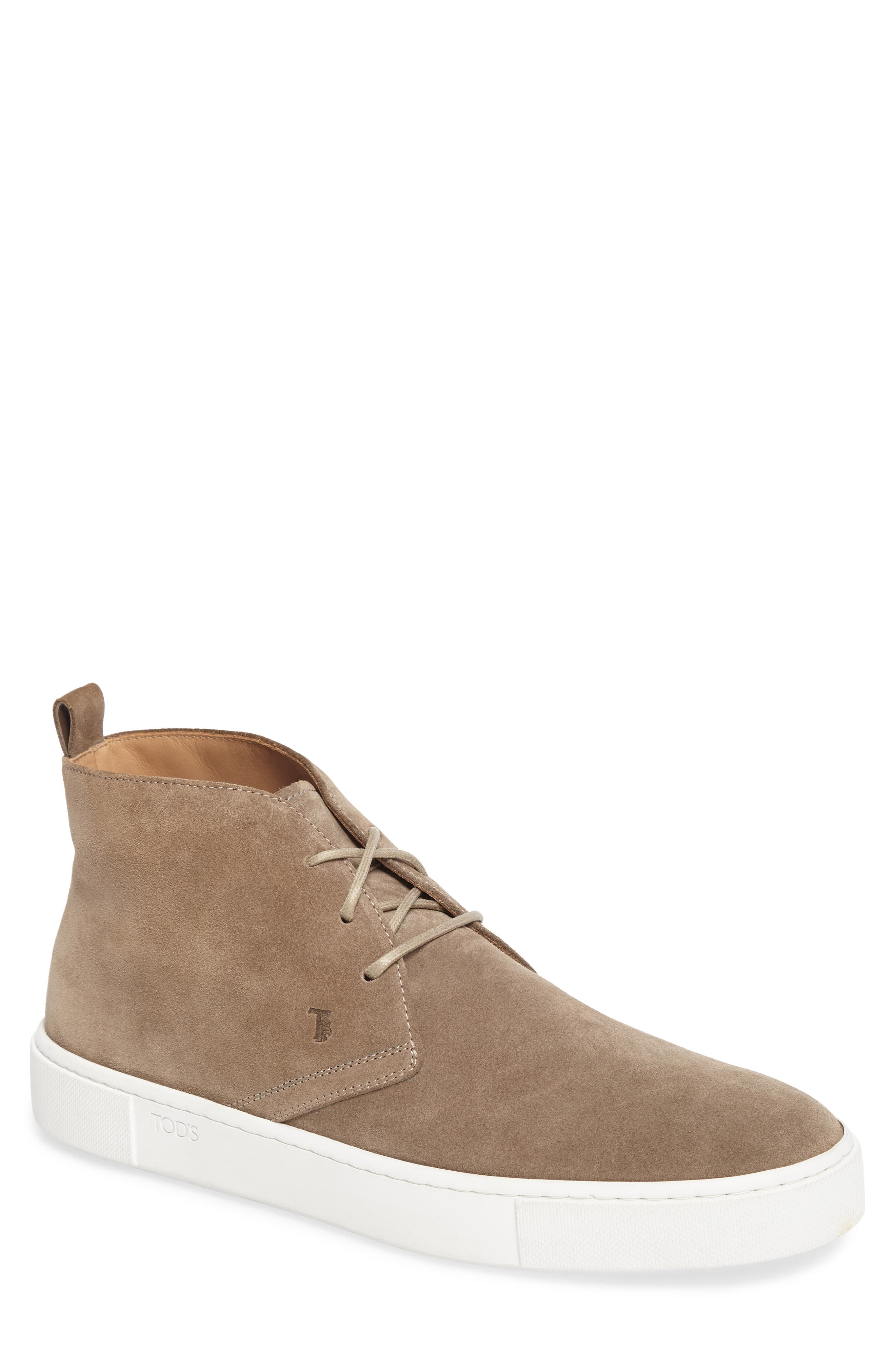 Leather Chukka Boot,                         Main,                         color, Brown Suede