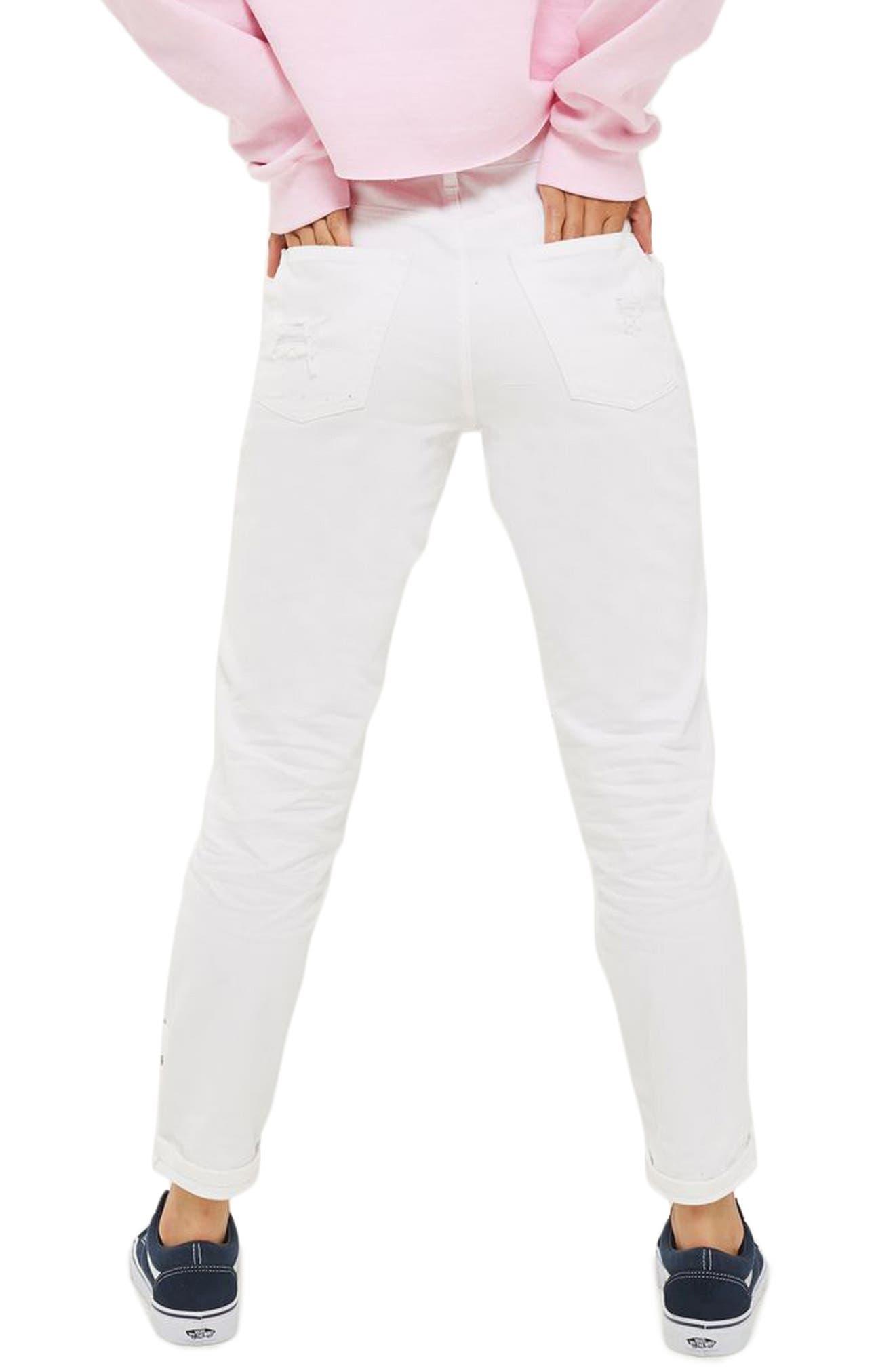 Alternate Image 3  - Topshop Super Rip Gemstone Mom Jeans