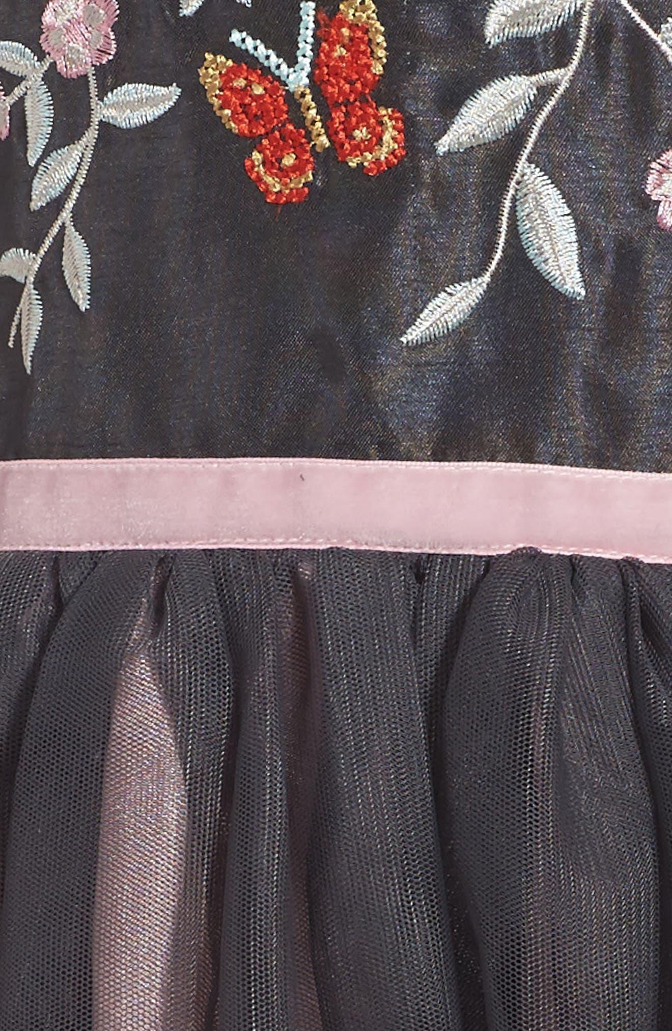 Alternate Image 3  - Zunie Embroidered Fit & Flare Dress (Toddler Girls, Little Girls & Big Girls)