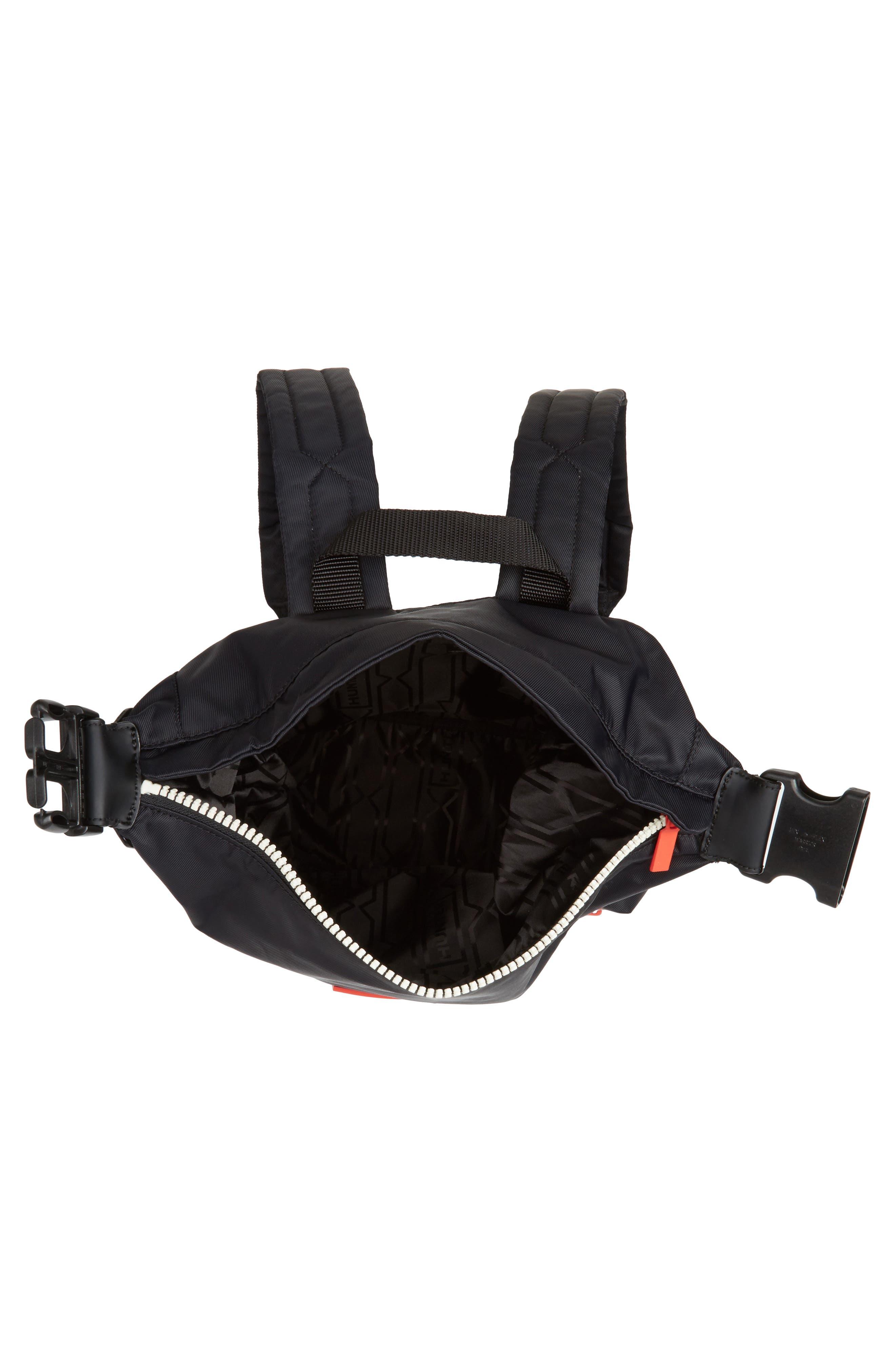 Original Mini Top Clip Nylon Backpack,                             Alternate thumbnail 4, color,                             Black