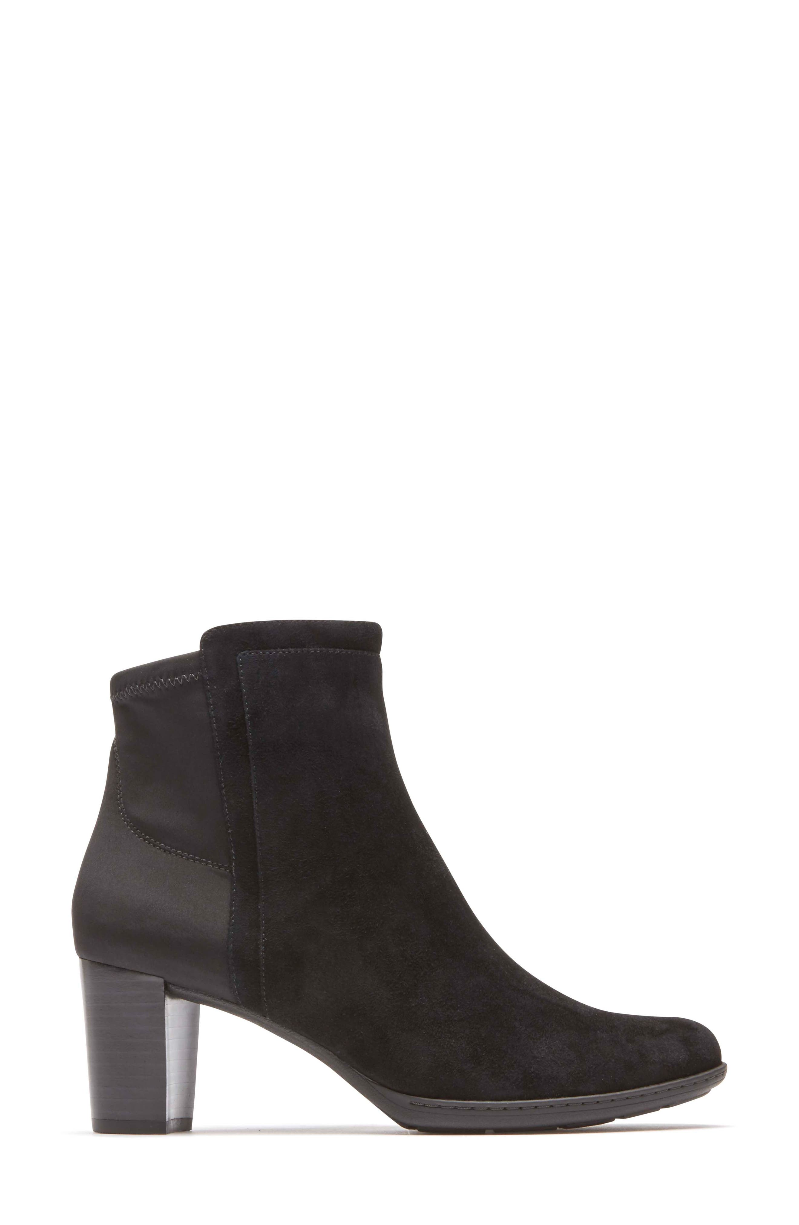 Chaya Bootie,                             Alternate thumbnail 3, color,                             Black Suede