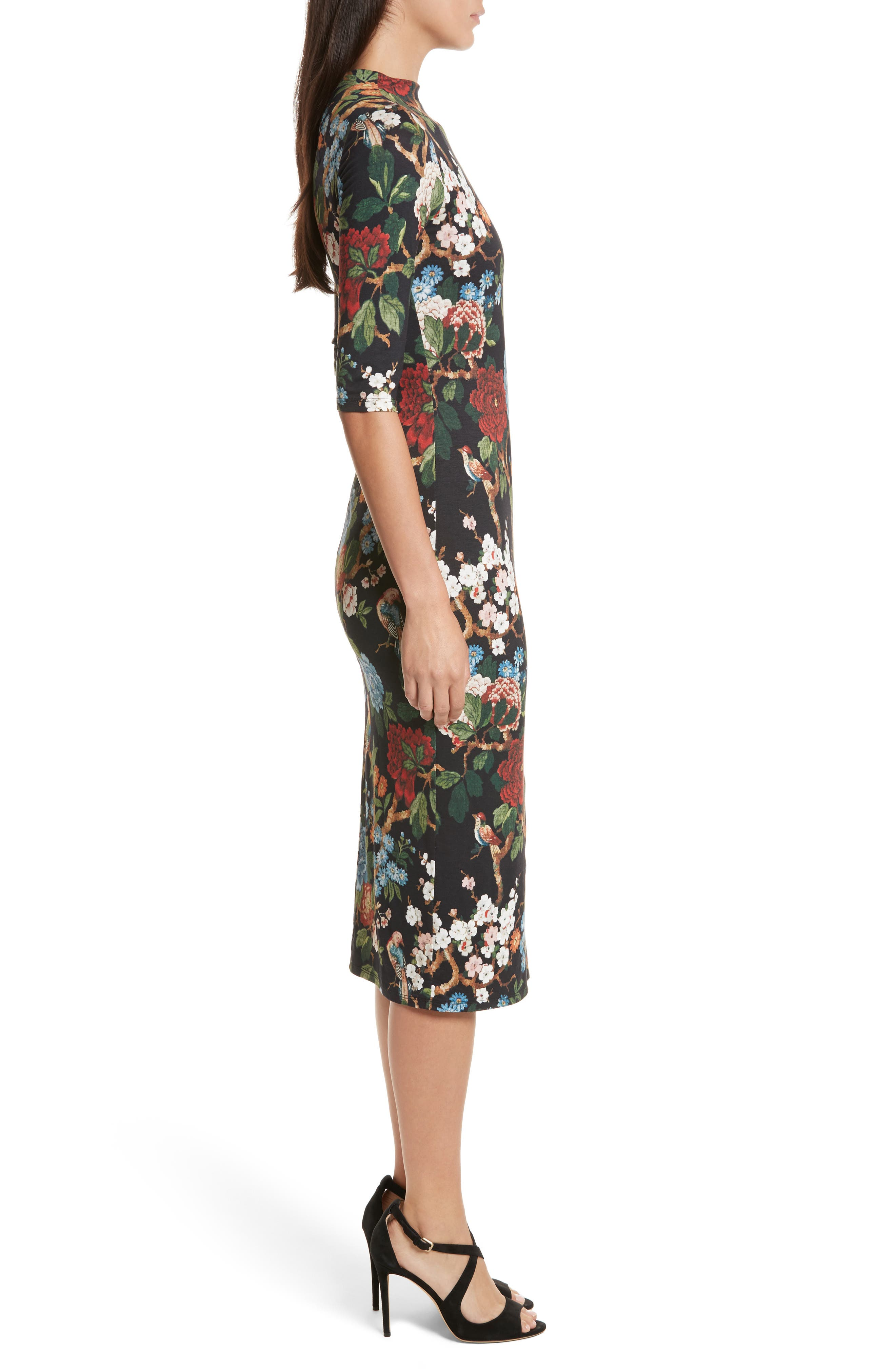 Alternate Image 3  - Alice + Olivia Delora Print Fitted Midi Dress