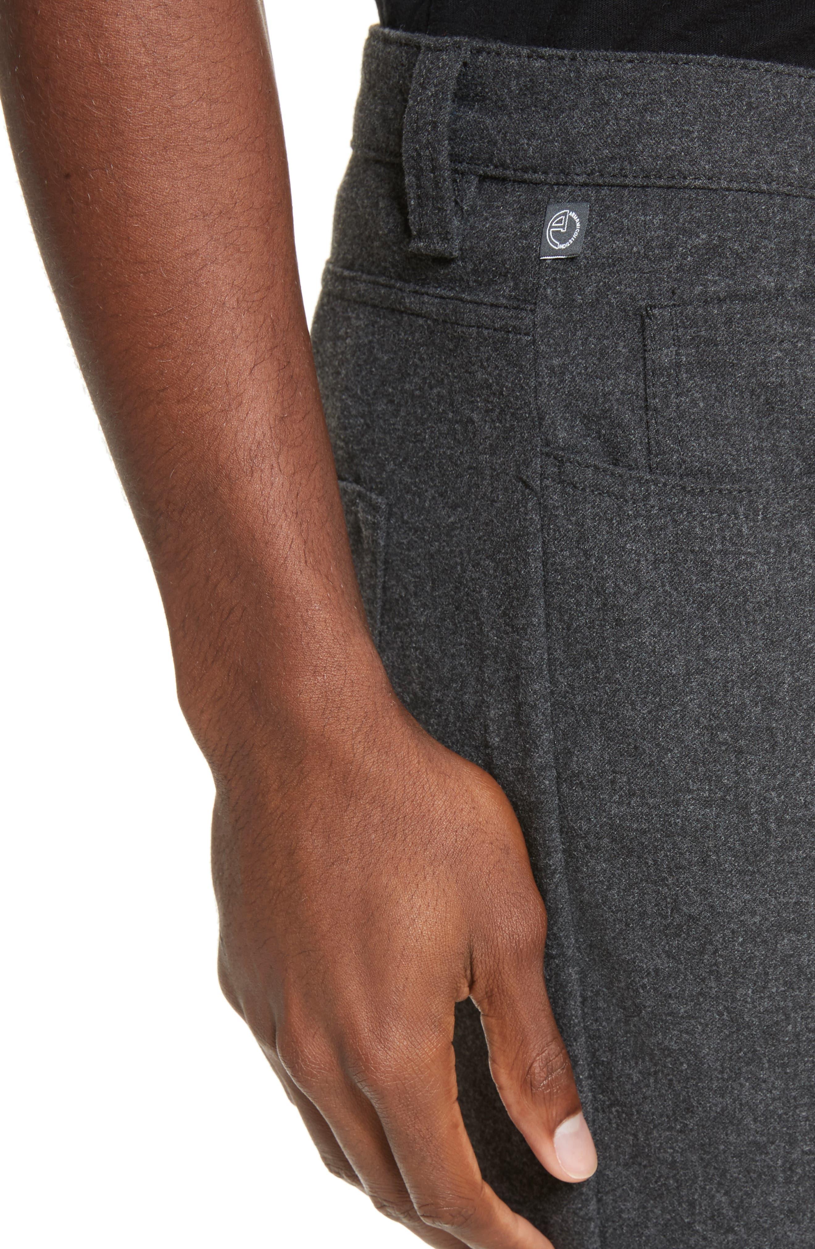 Alternate Image 4  - Armani Collezioni Flannel Sport Pants