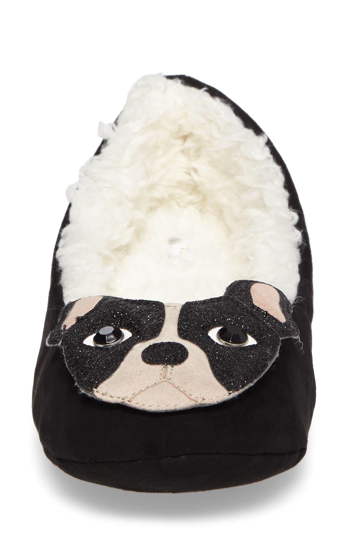 seymour slipper,                             Alternate thumbnail 4, color,                             Black Micro Suede