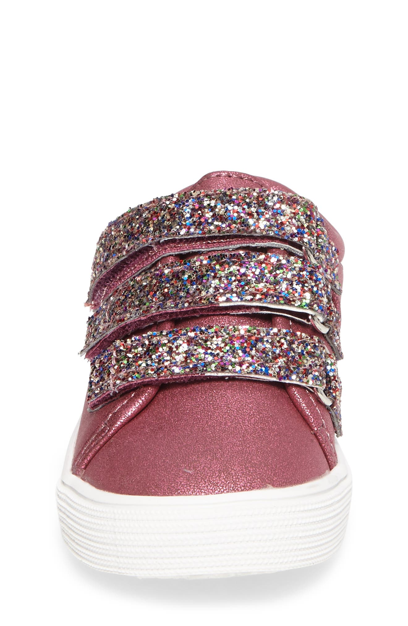 Alternate Image 4  - Kenneth Cole New York Kam Glitter Strap Sneaker (Walker & Toddler)