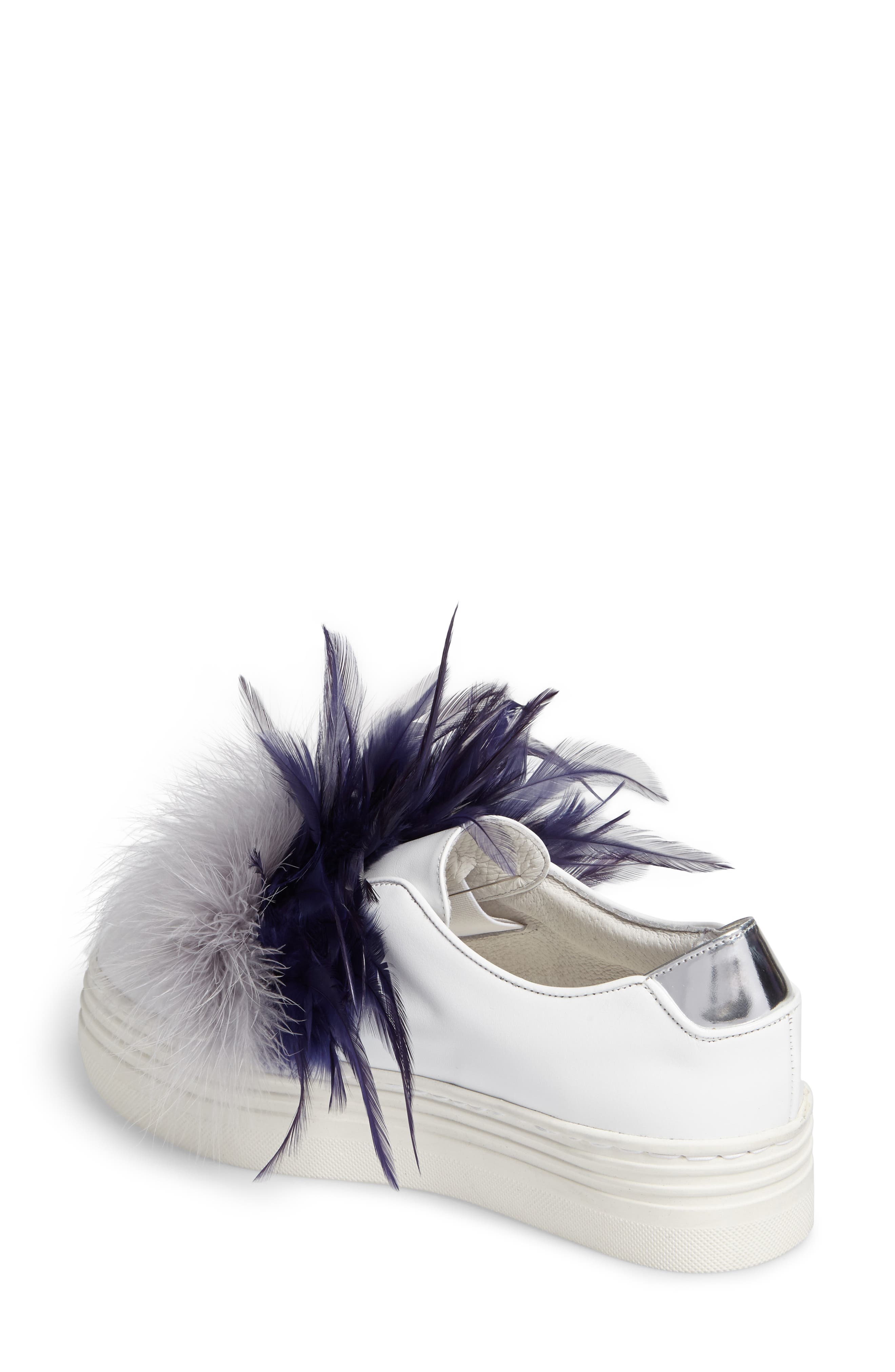 Alternate Image 2  - Here / Now Tina Feathered Slip-On Sneaker (Women)