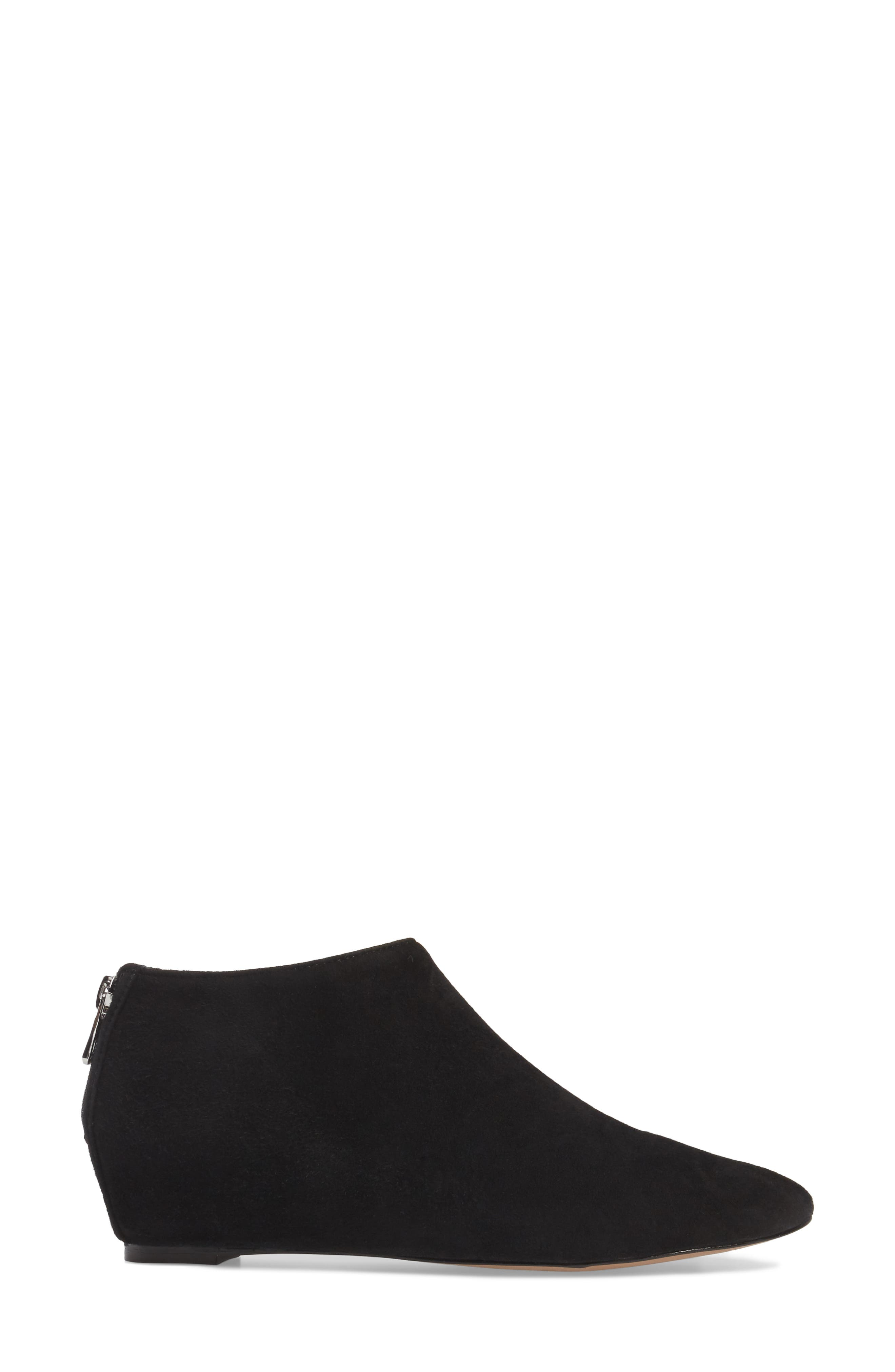 Aves Les Filles Beatrice Ankle Boot,                             Alternate thumbnail 3, color,                             Black Suede