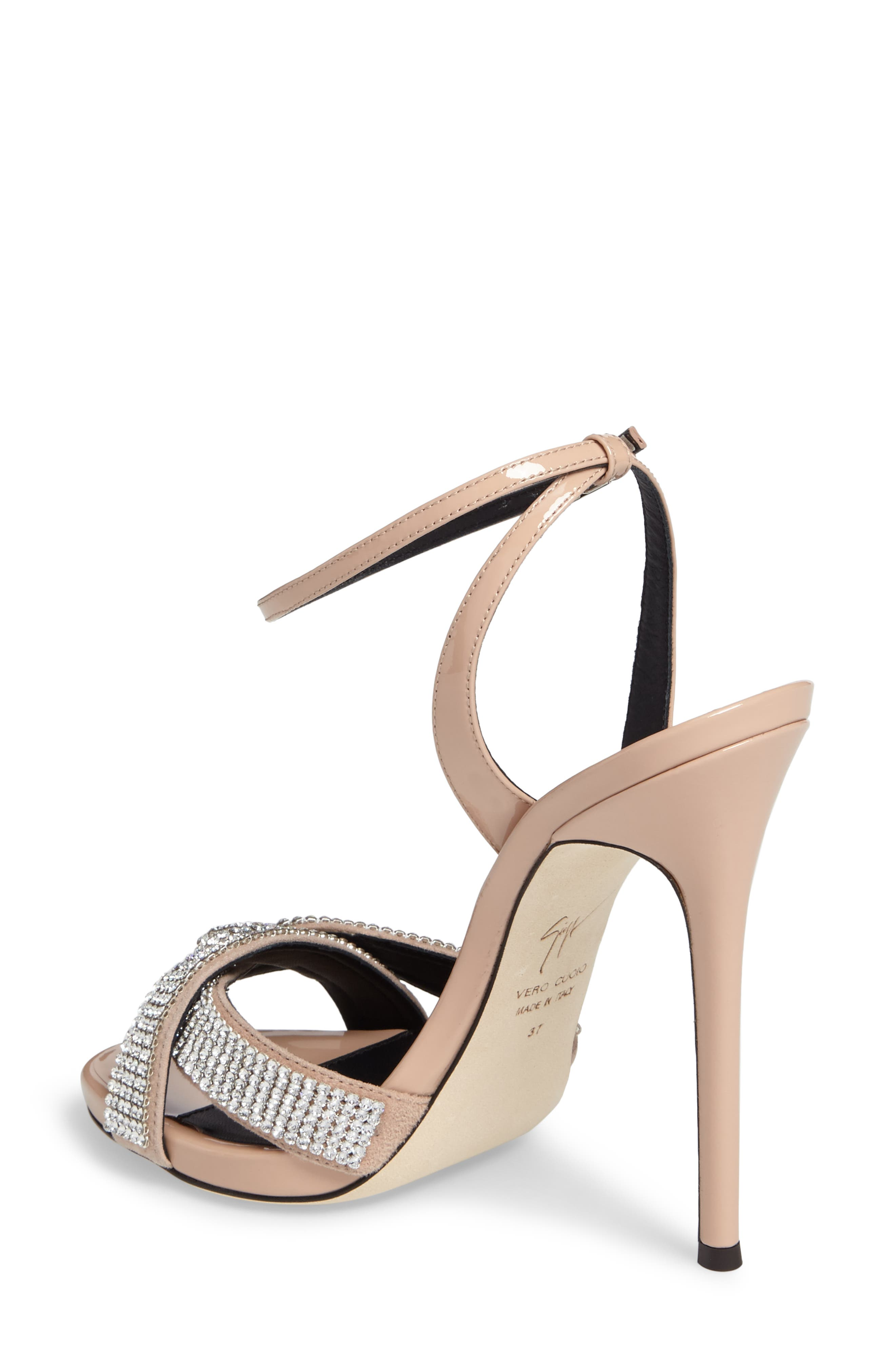 Alternate Image 2  - Giuseppe Zanotti Embellished Wrap Strap Sandal (Women)