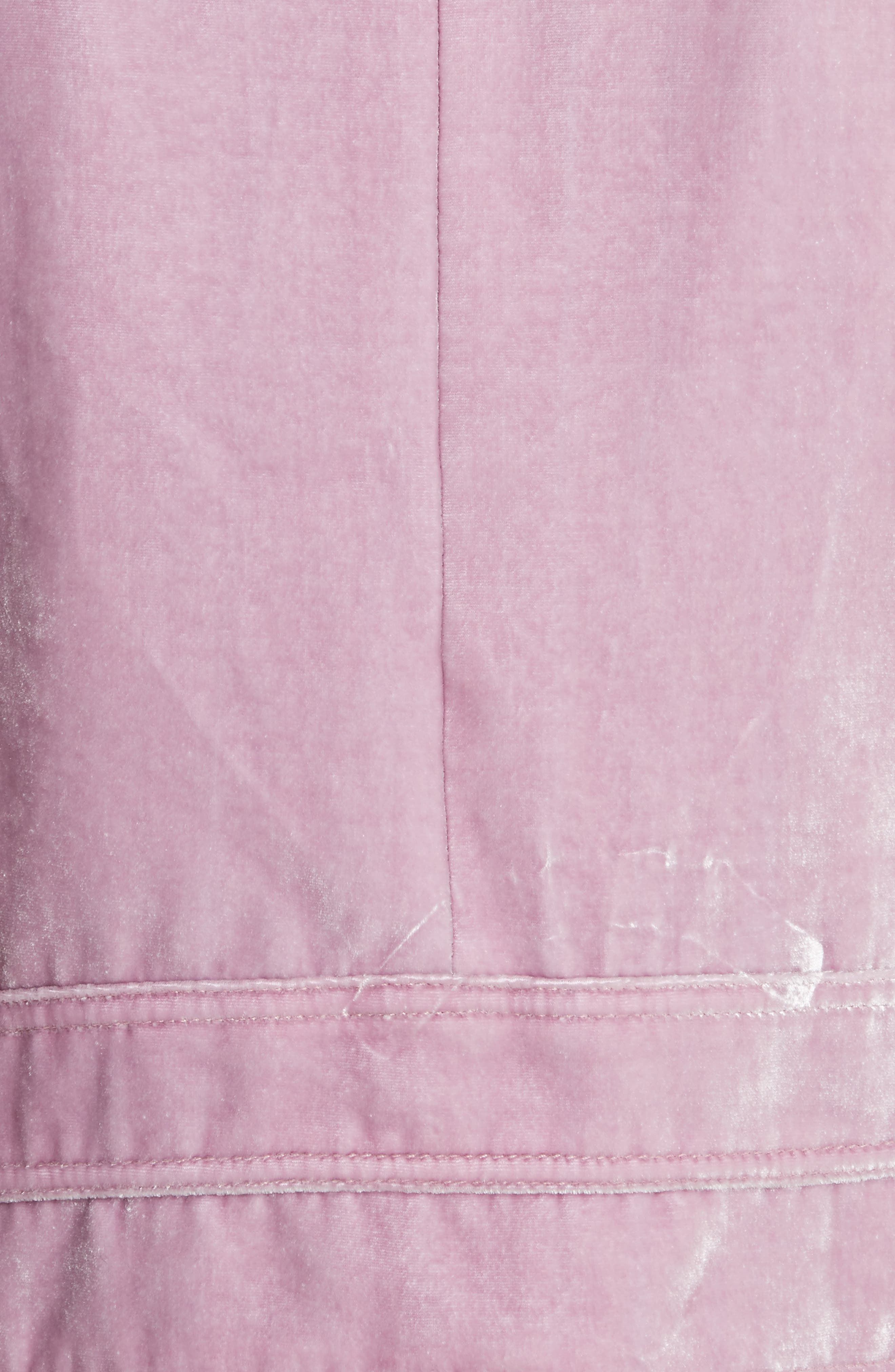 Velvet Moto Jacket,                             Alternate thumbnail 5, color,                             Dusty Iris