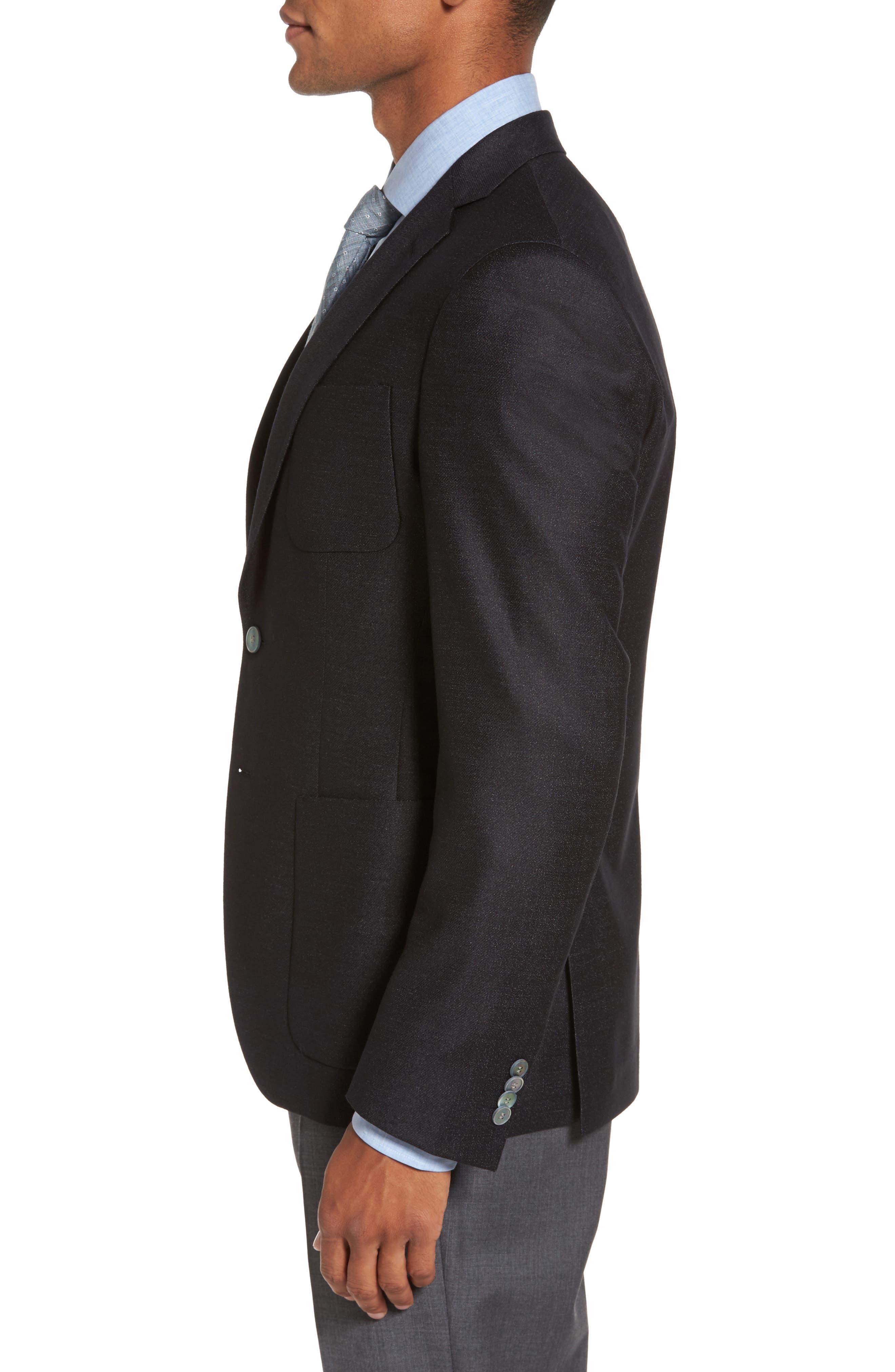 Alternate Image 3  - BOSS Raye Extra Trim Fit Wool Blend Blazer
