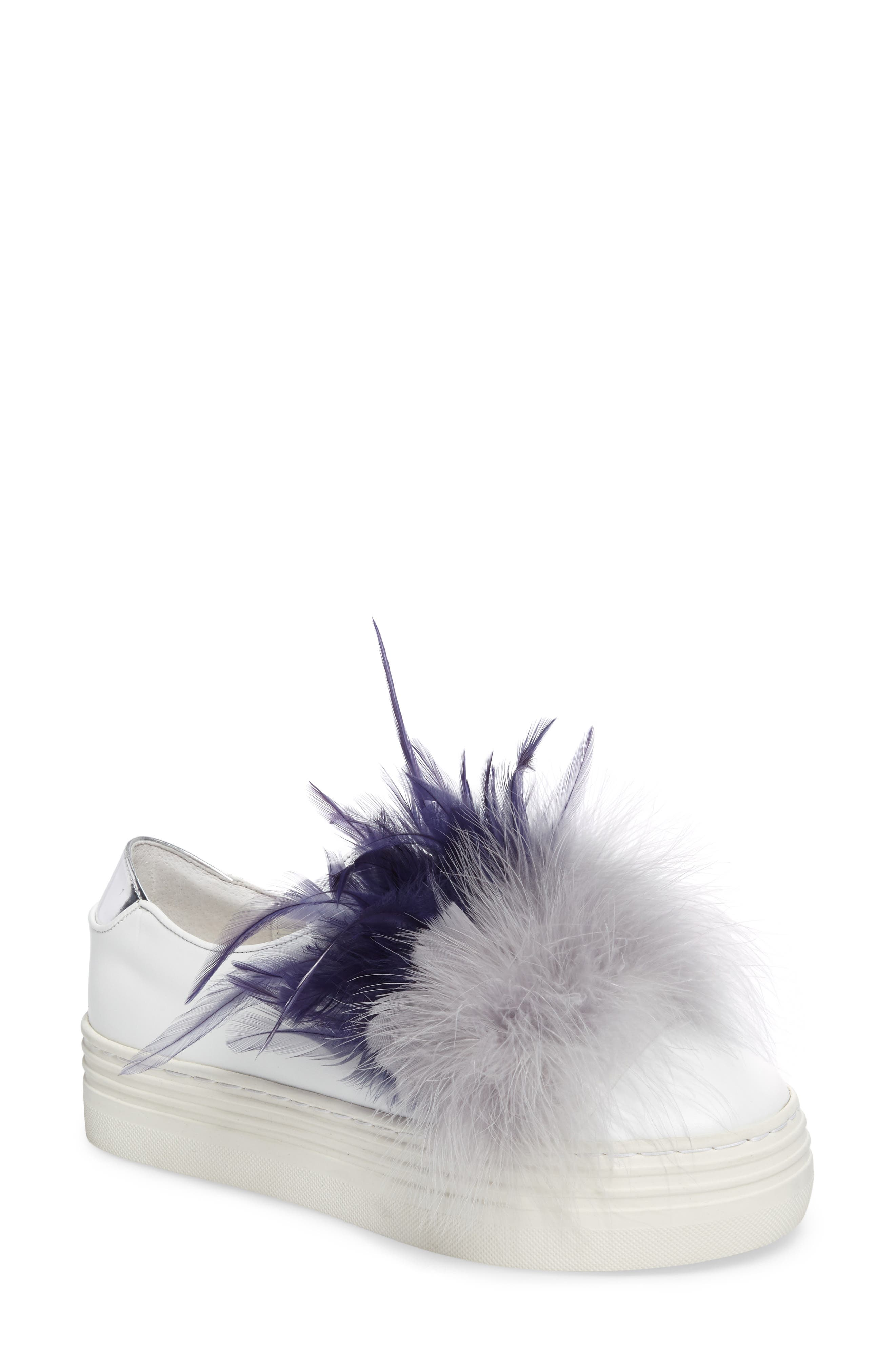 Alternate Image 1 Selected - Here / Now Tina Feathered Slip-On Sneaker (Women)