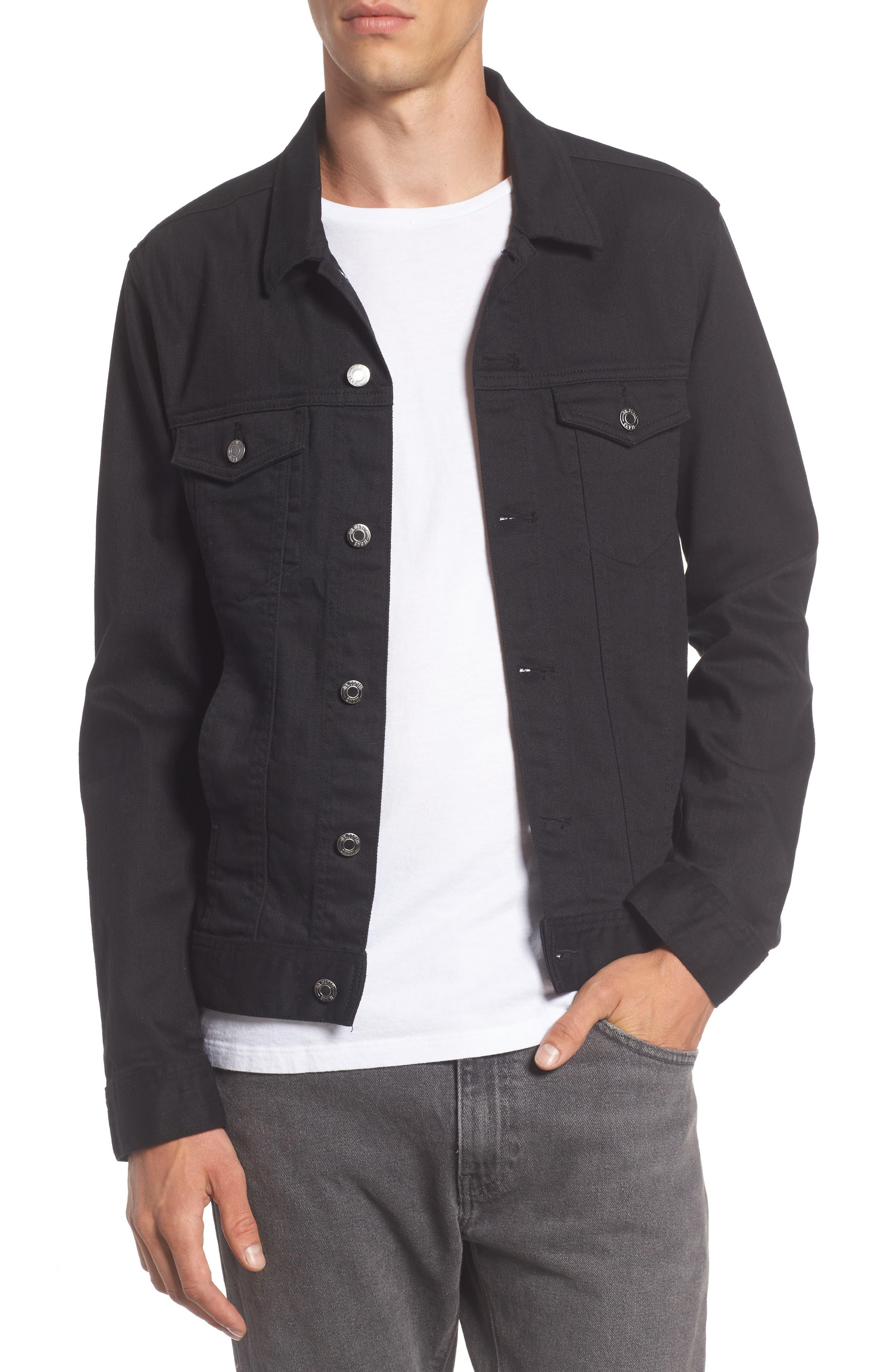 Dwight Denim Jacket,                         Main,                         color, Black Damage