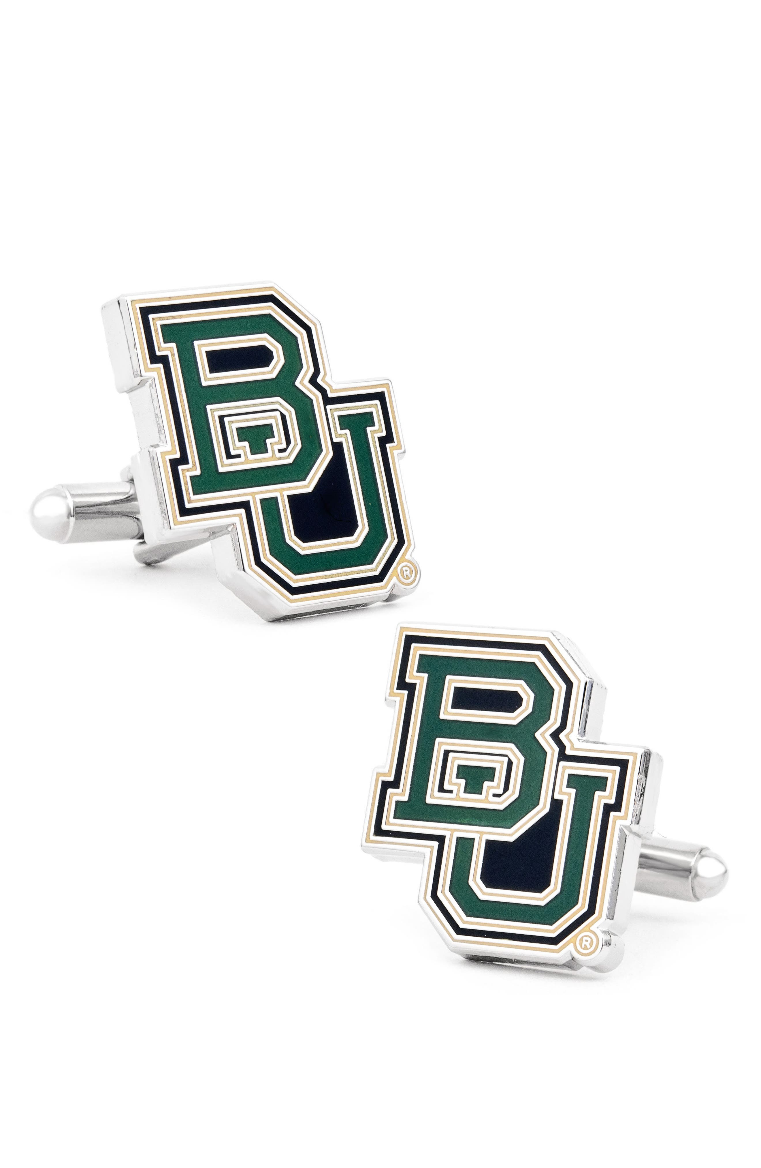 'Baylor Bears' Cuff Links,                         Main,                         color, Green/ Gold
