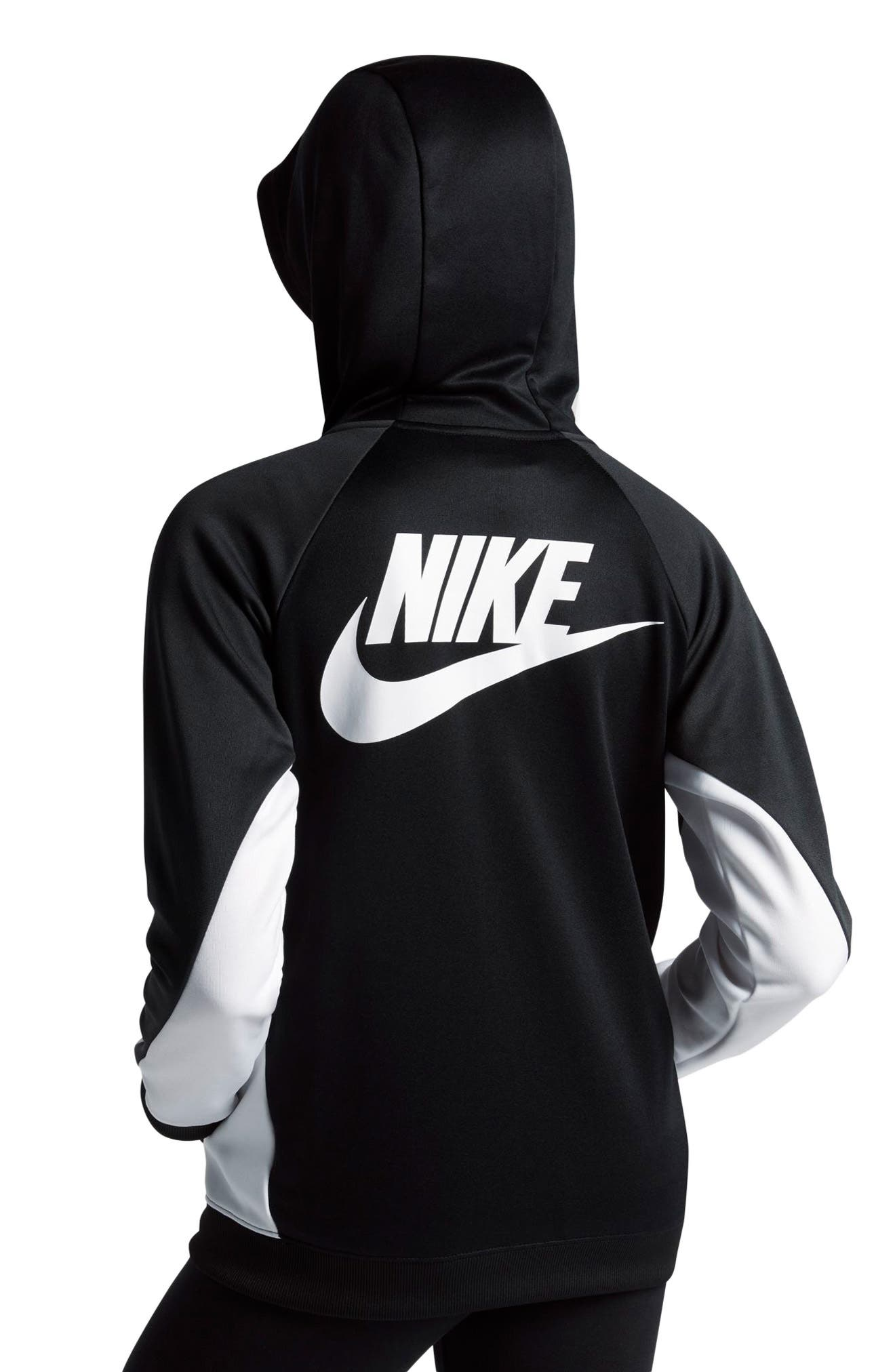 Colorblock Hoodie,                             Alternate thumbnail 2, color,                             Black/ Anthracite/ White