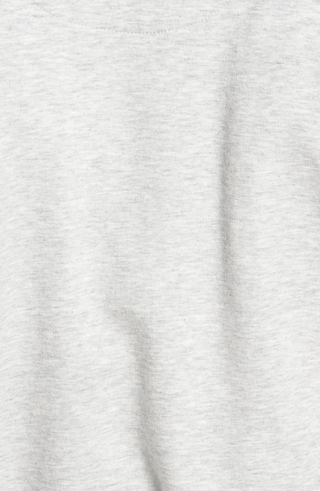 Samuel Stretch Cotton Robe,                             Alternate thumbnail 5, color,                             Seal Heather