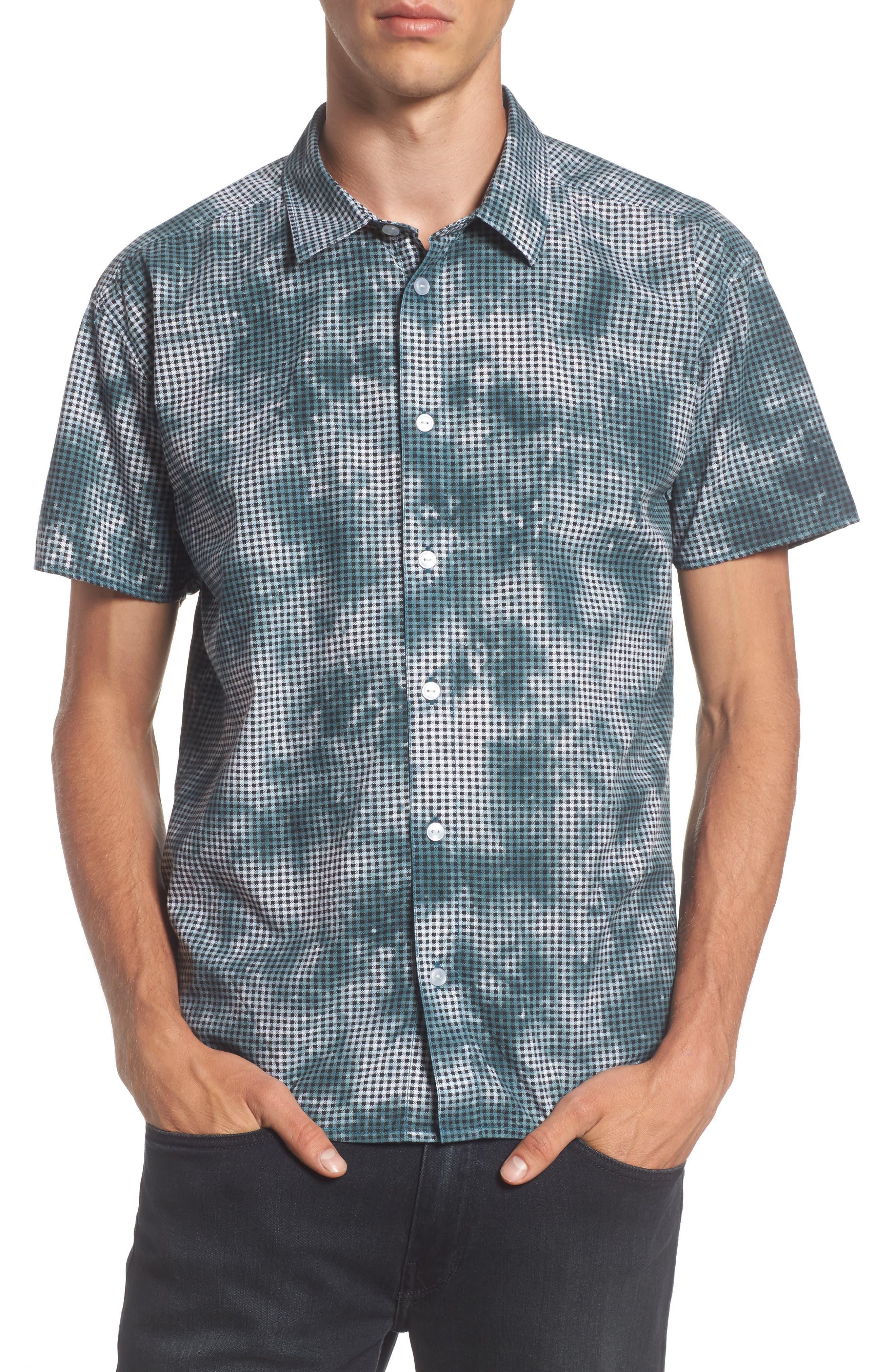 RVCA Tie Dye Check Shirt