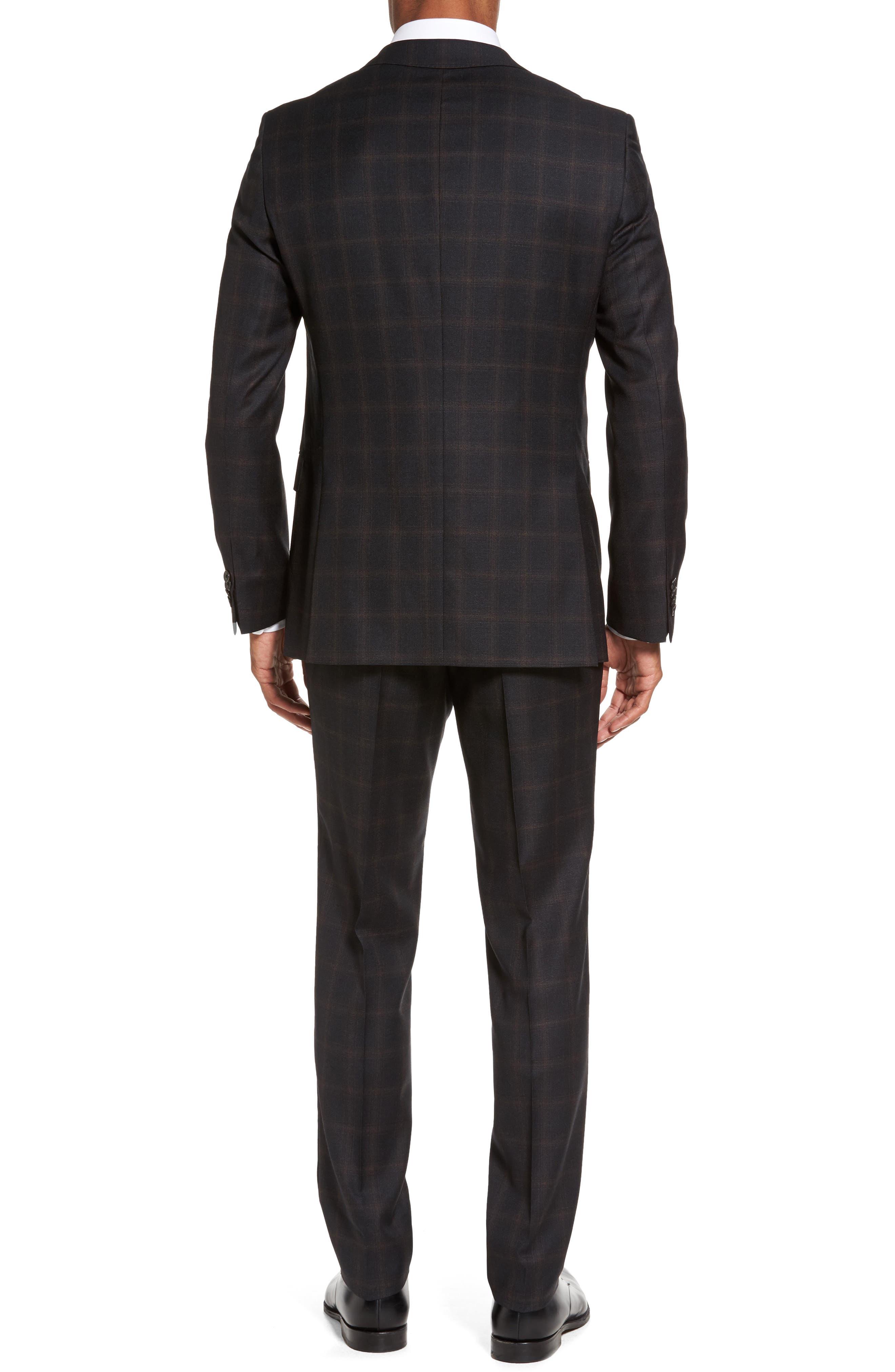 Novan/Ben Trim Fit Plaid Wool Suit,                             Alternate thumbnail 2, color,                             Open Grey