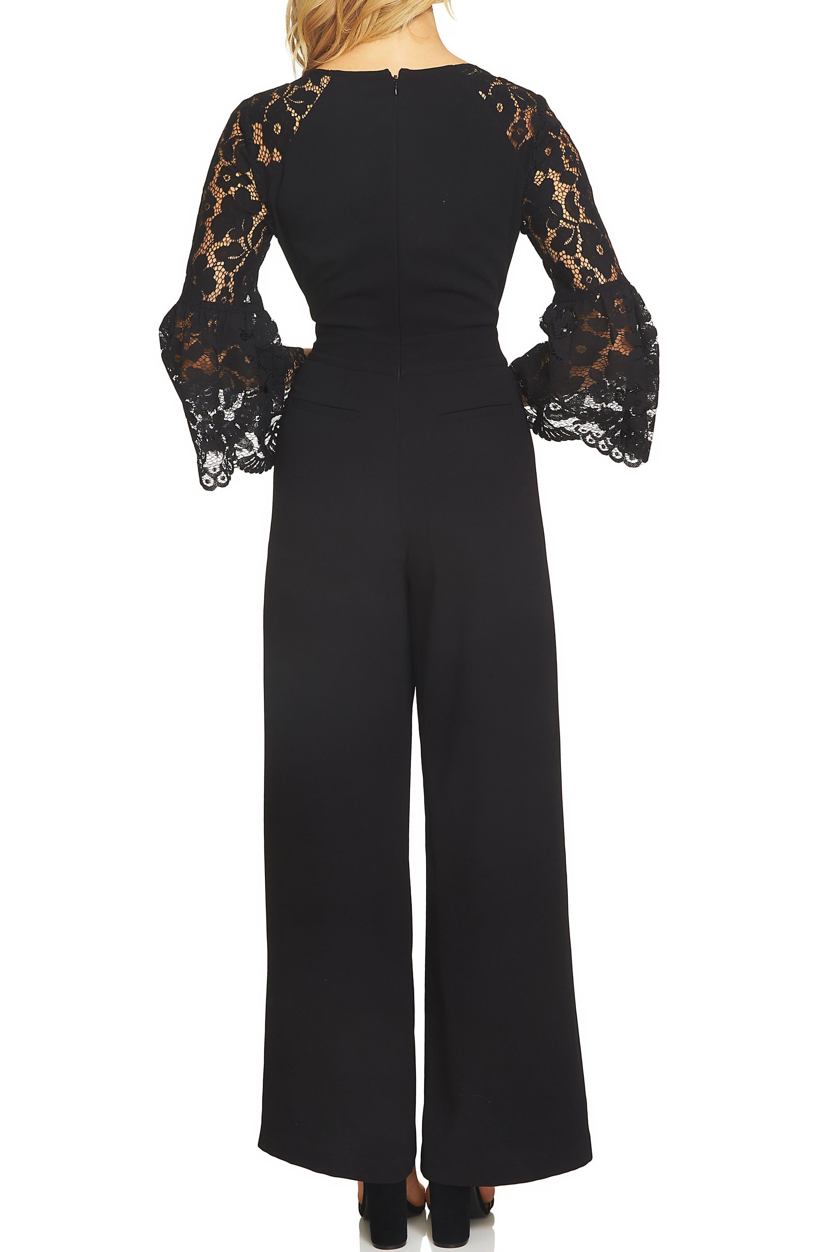 Alternate Image 2  - CeCe Lace Bell Sleeve Jumpsuit