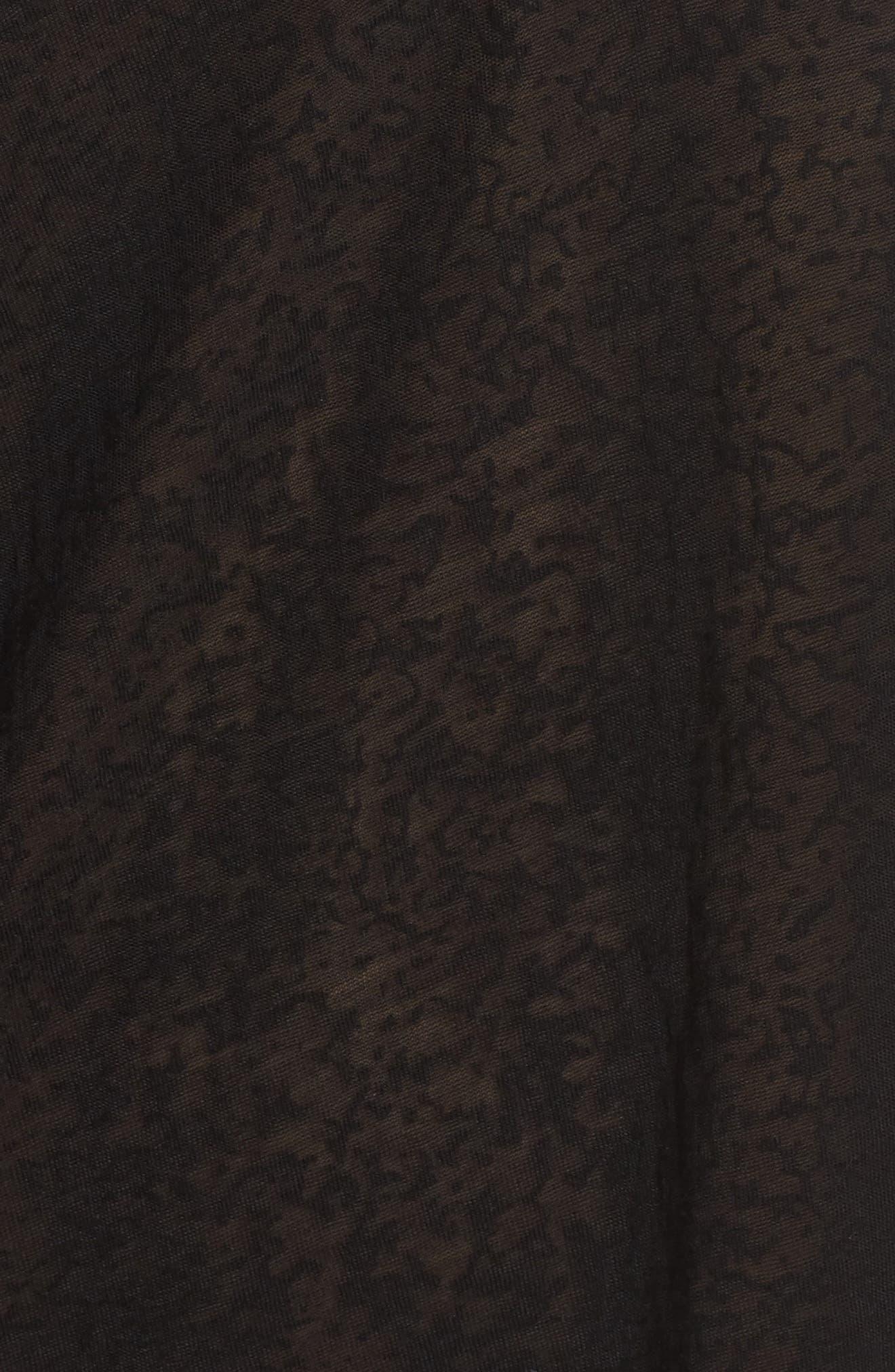 Inca Cover-Up Dress,                             Alternate thumbnail 5, color,                             Black