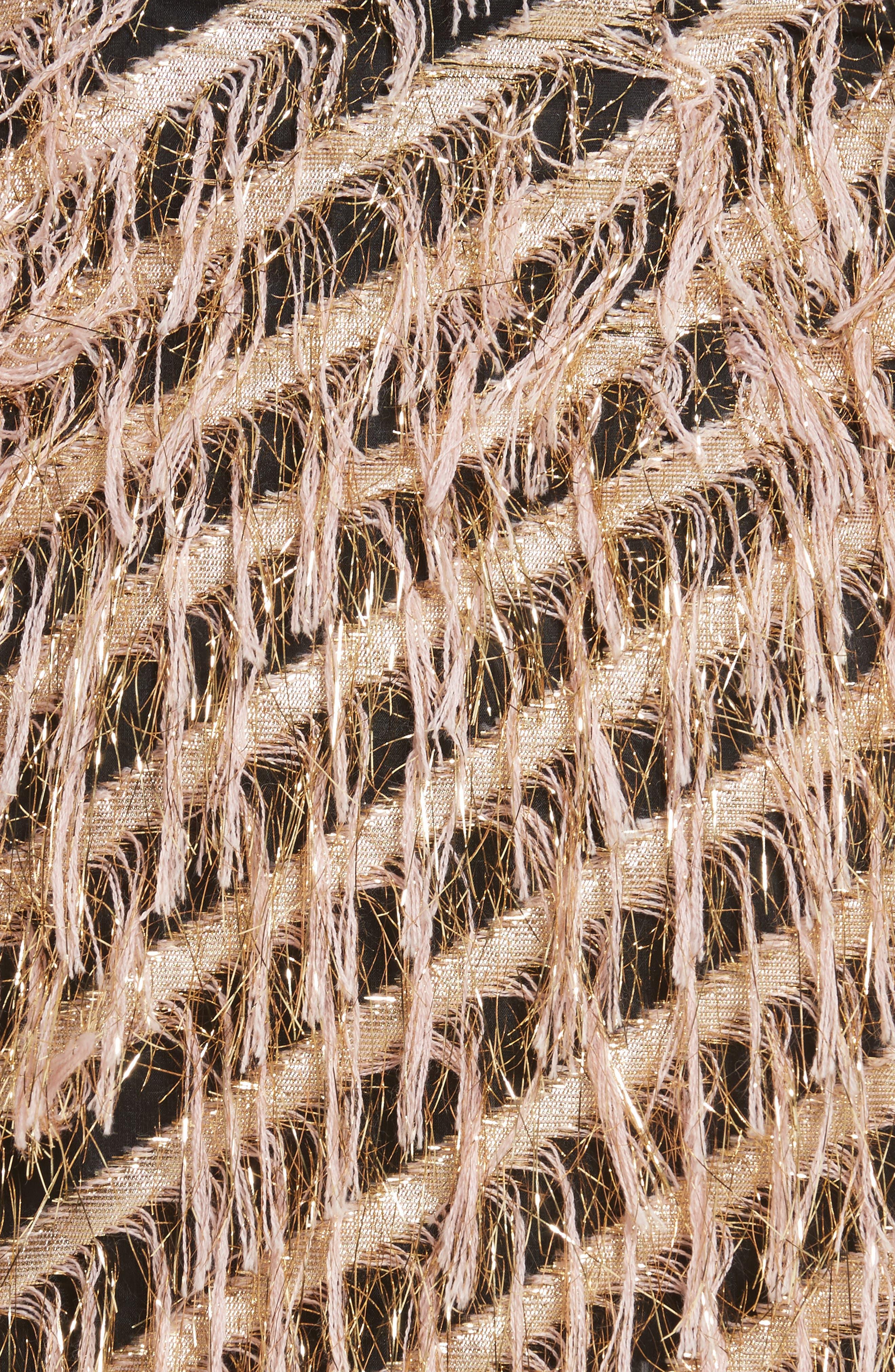 Fil Coupé Diagonal Stripe Miniskirt,                             Alternate thumbnail 5, color,                             Blush
